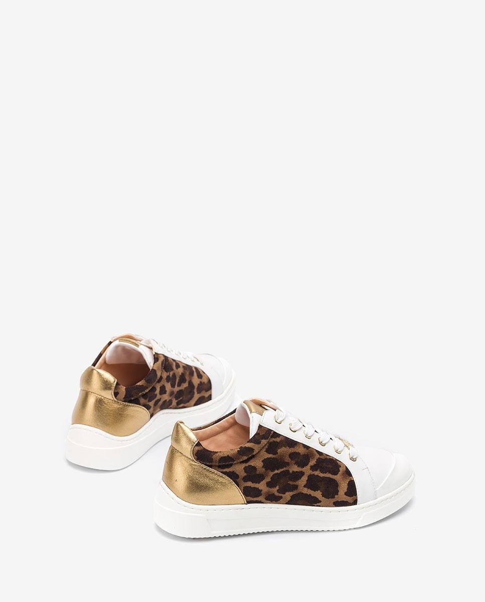 UNISA Sneaker mit Leo-Print FAIFAX_SDE_NF cumin/whit 5