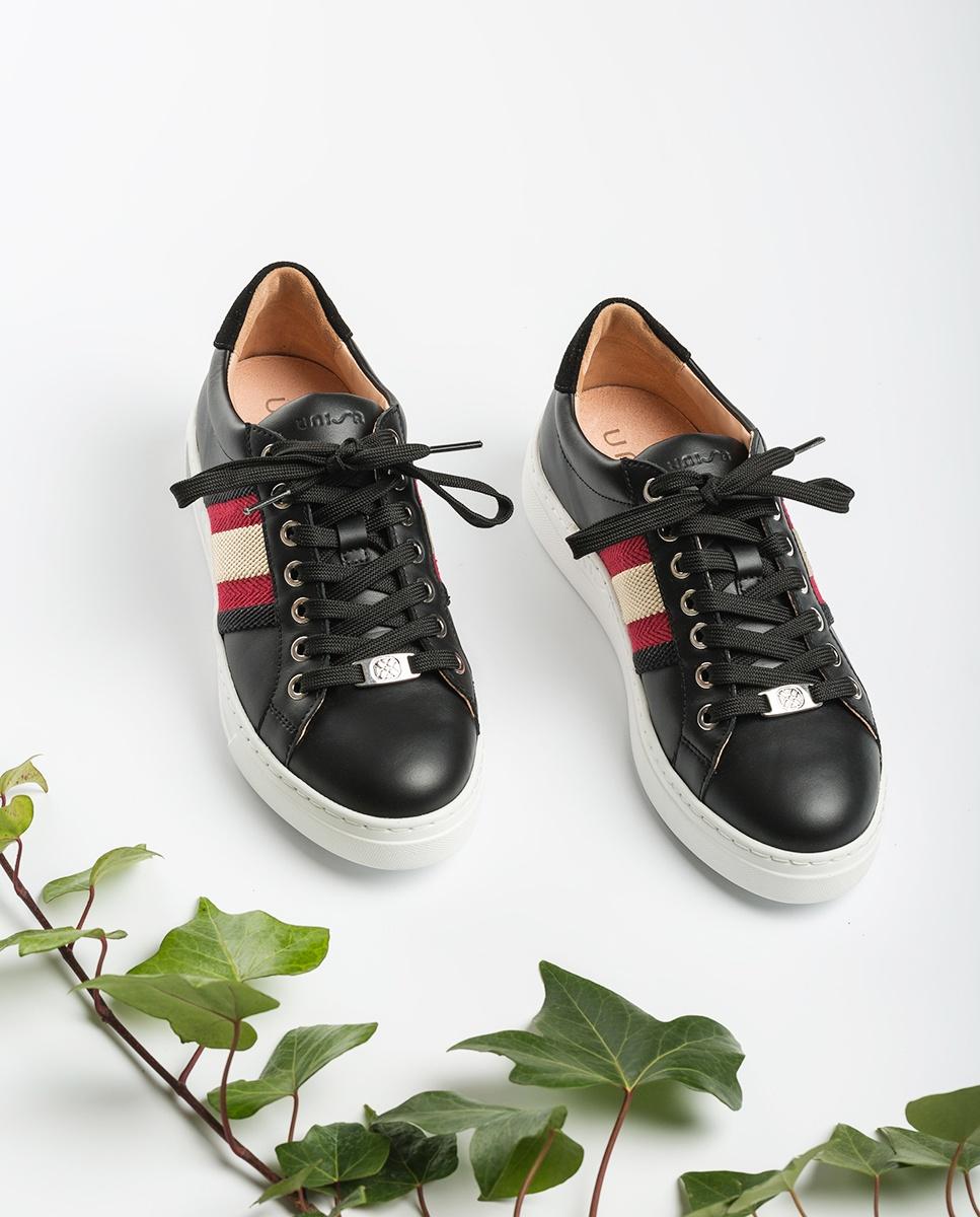 UNISA Leder-Sneaker mit Streifen FAROLA_20_NF black/roug 5