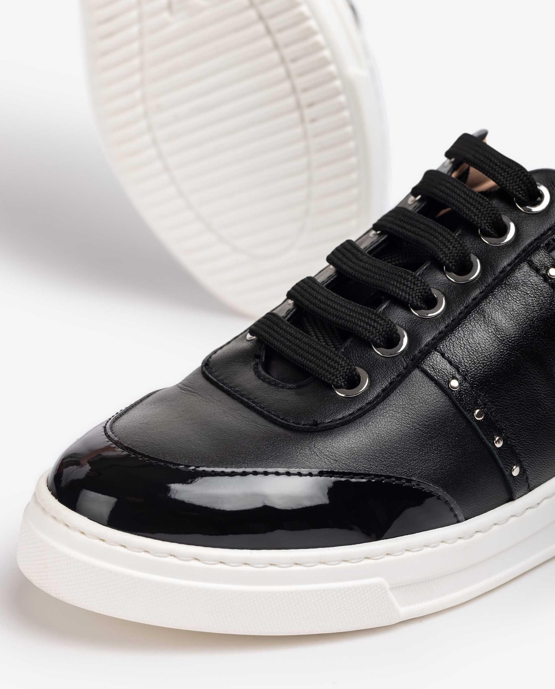 UNISA Sneaker aus Glatt- und Lackleder mit Schnürung FILFO_NF 5