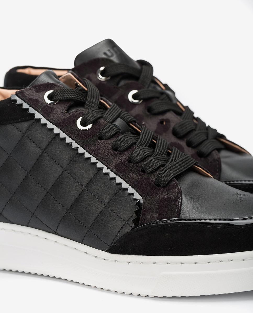 UNISA Hohe gefütterte Sneaker FLORIN_NF_SDE blk/tempes 5