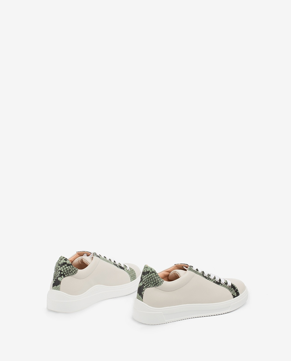UNISA Leder-Sneaker mit Snake-Print FRANCI_20_NF_VIP ivory/mint 5