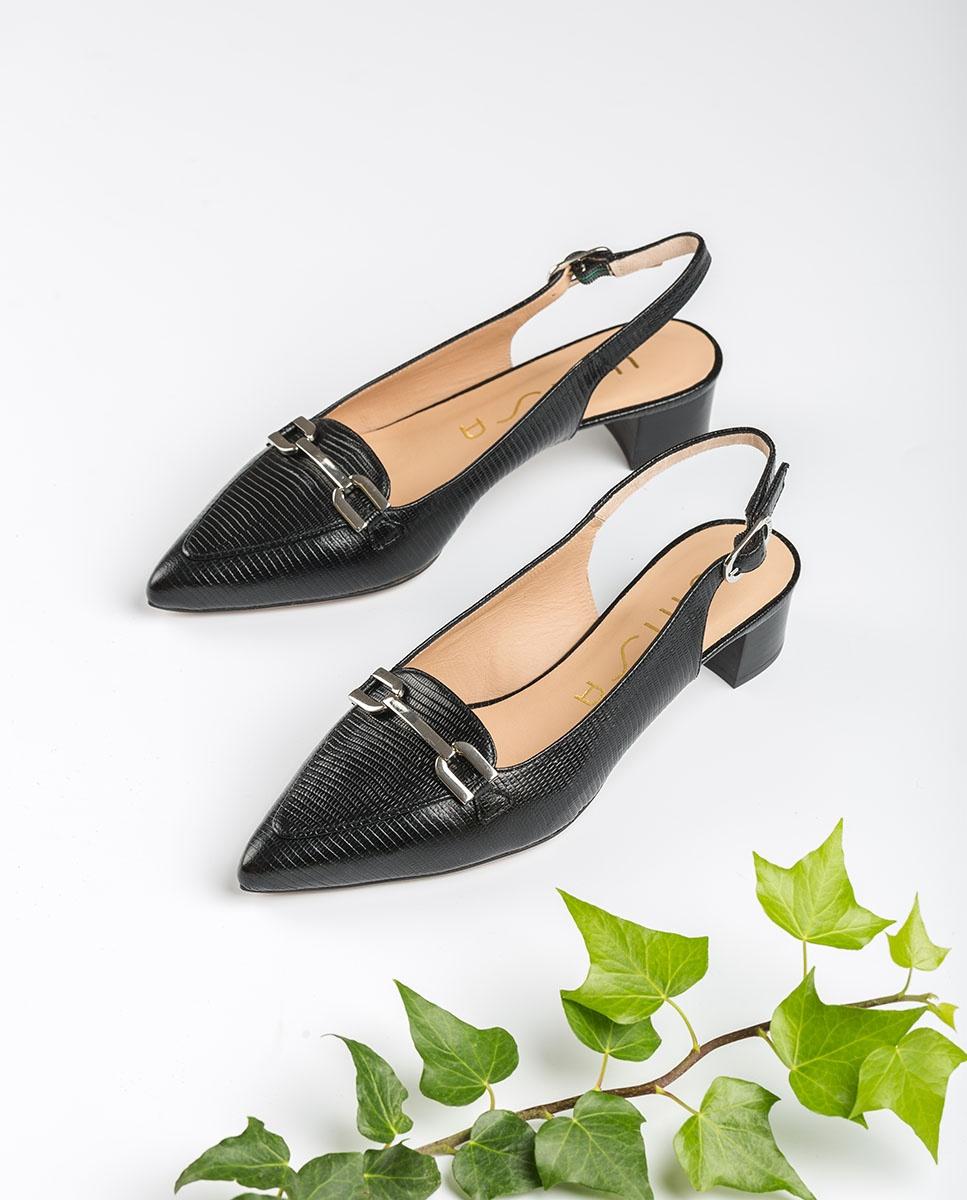 UNISA Mokassin-Slingbacks mit kleinem Absatz GISELE_LI black 5