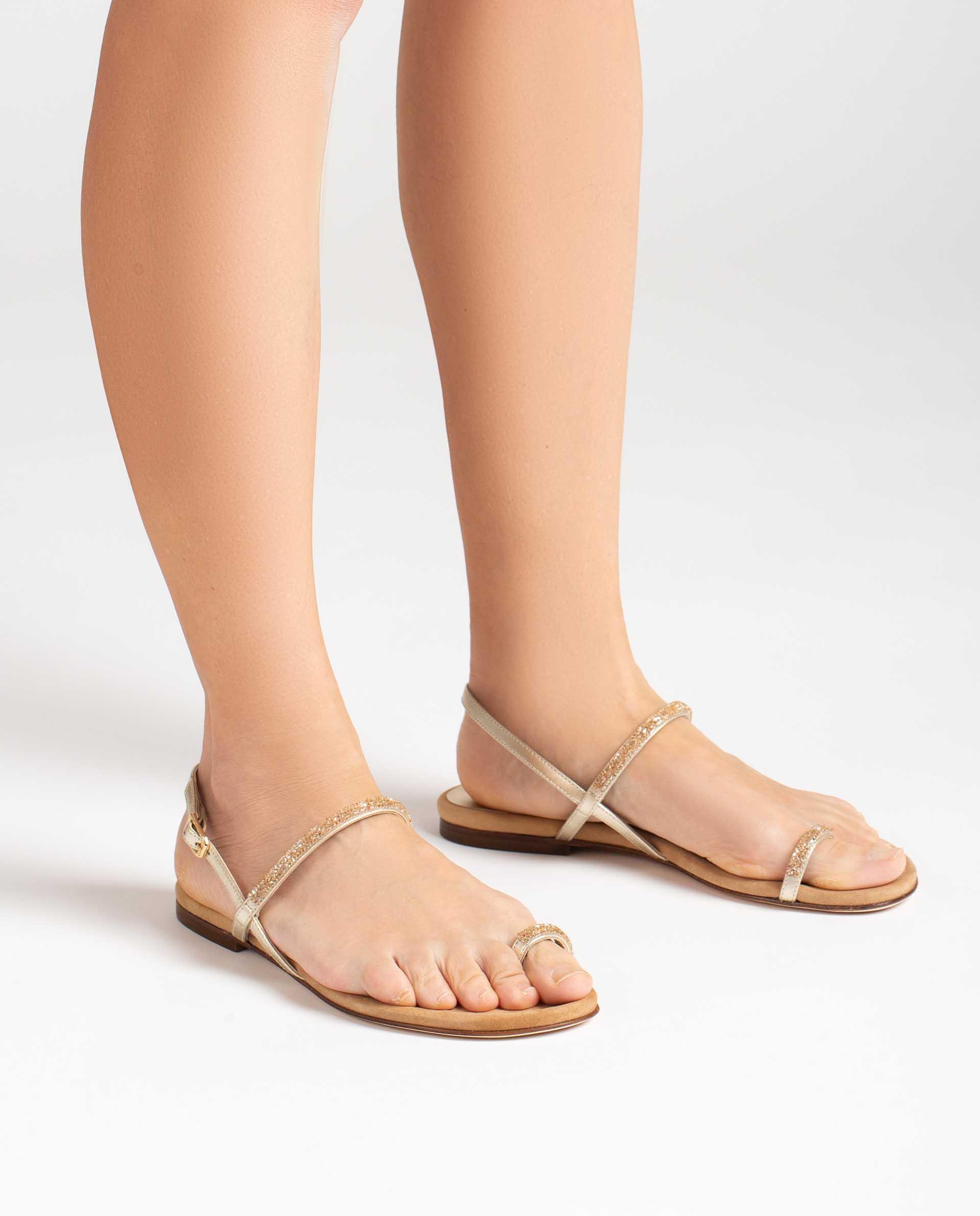 UNISA Ballerinas aus glänzendem Stoff CRUISE_21_LMT 5