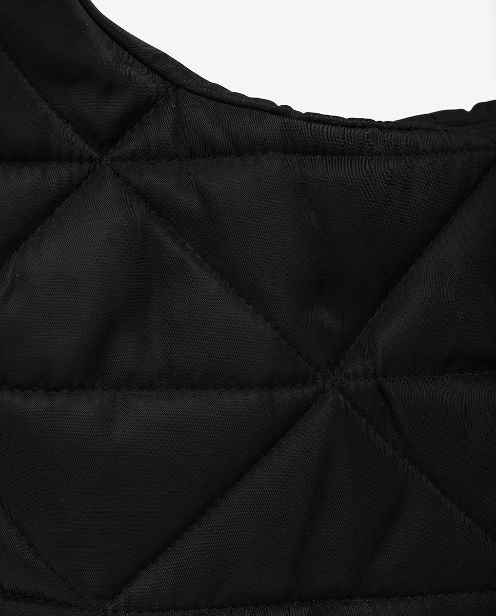 UNISA Hobo-Bag aus Nylongewebe ZISQUILT_BUS black 5