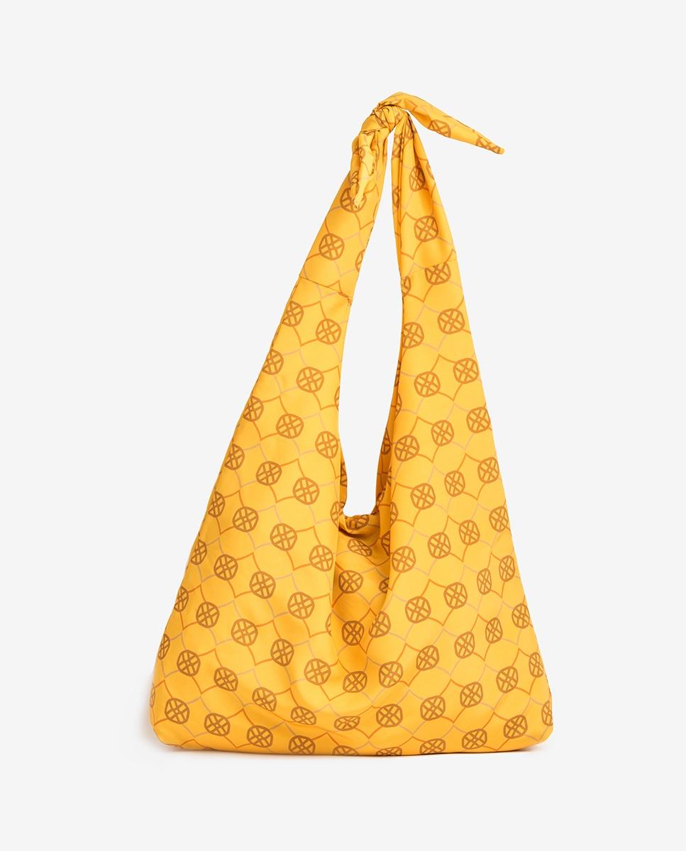 UNISA Hobo Bag aus Stoff mit Monogramm ZWENDY_FOU mustard 5