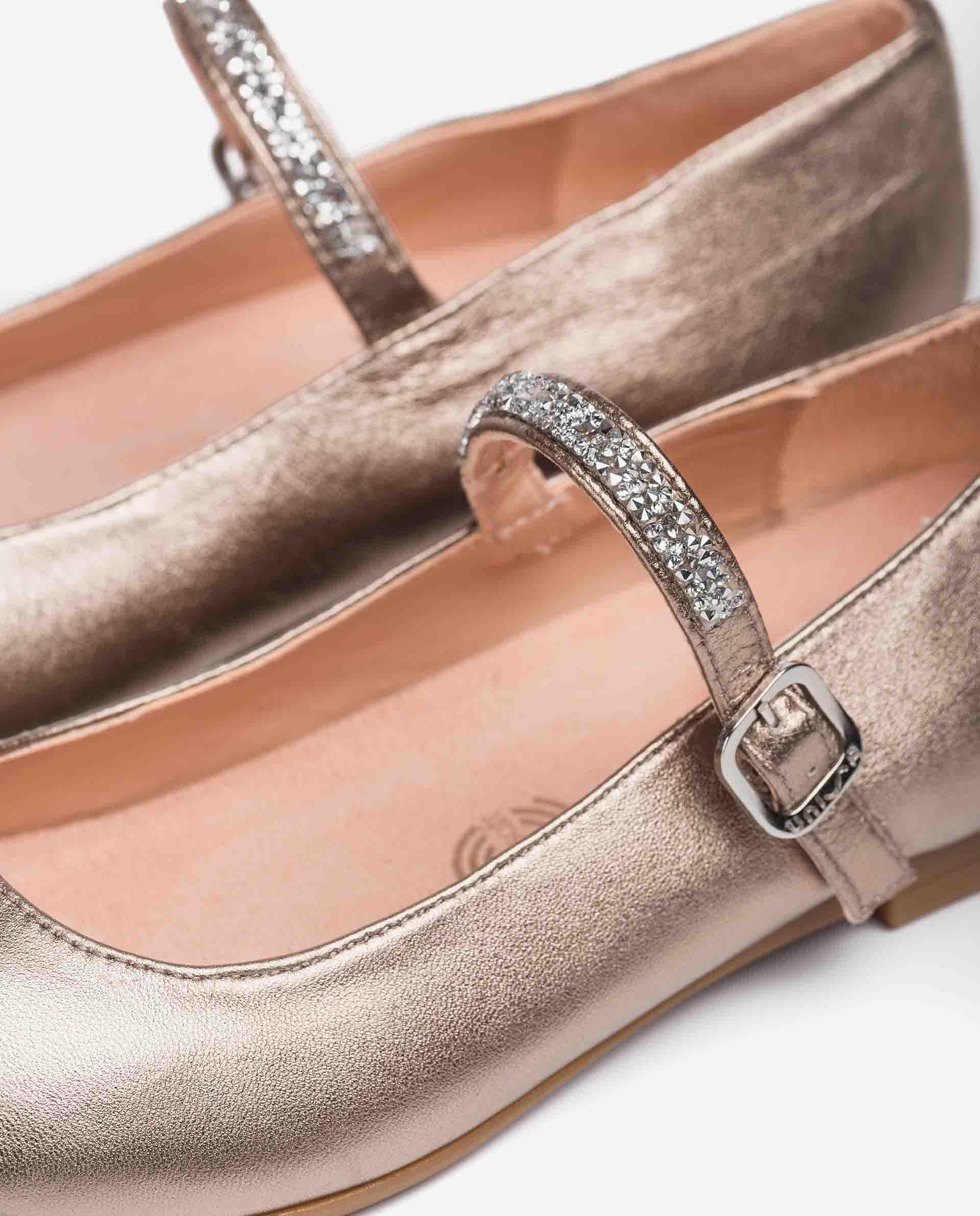 UNISA Spangenschuhe aus Metallic-Leder für Mädchen CLERVY_21_LMT 5