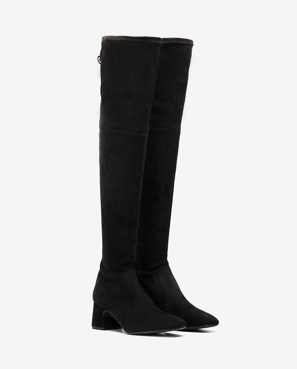 UNISA Schwarze elastische Overknees MUJICA_ST black 5