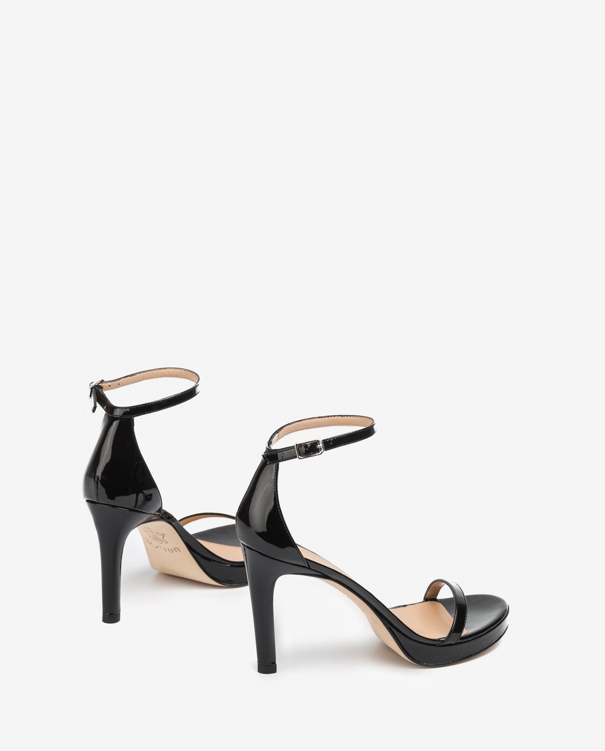 UNISA Lackleder-Sandaletten mit Knöchelriemen VERONIC_PA black 5