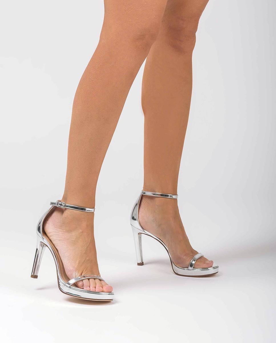 UNISA Silberne Sandaletten mit Knöchelriemen VERONIC_SP silver 5