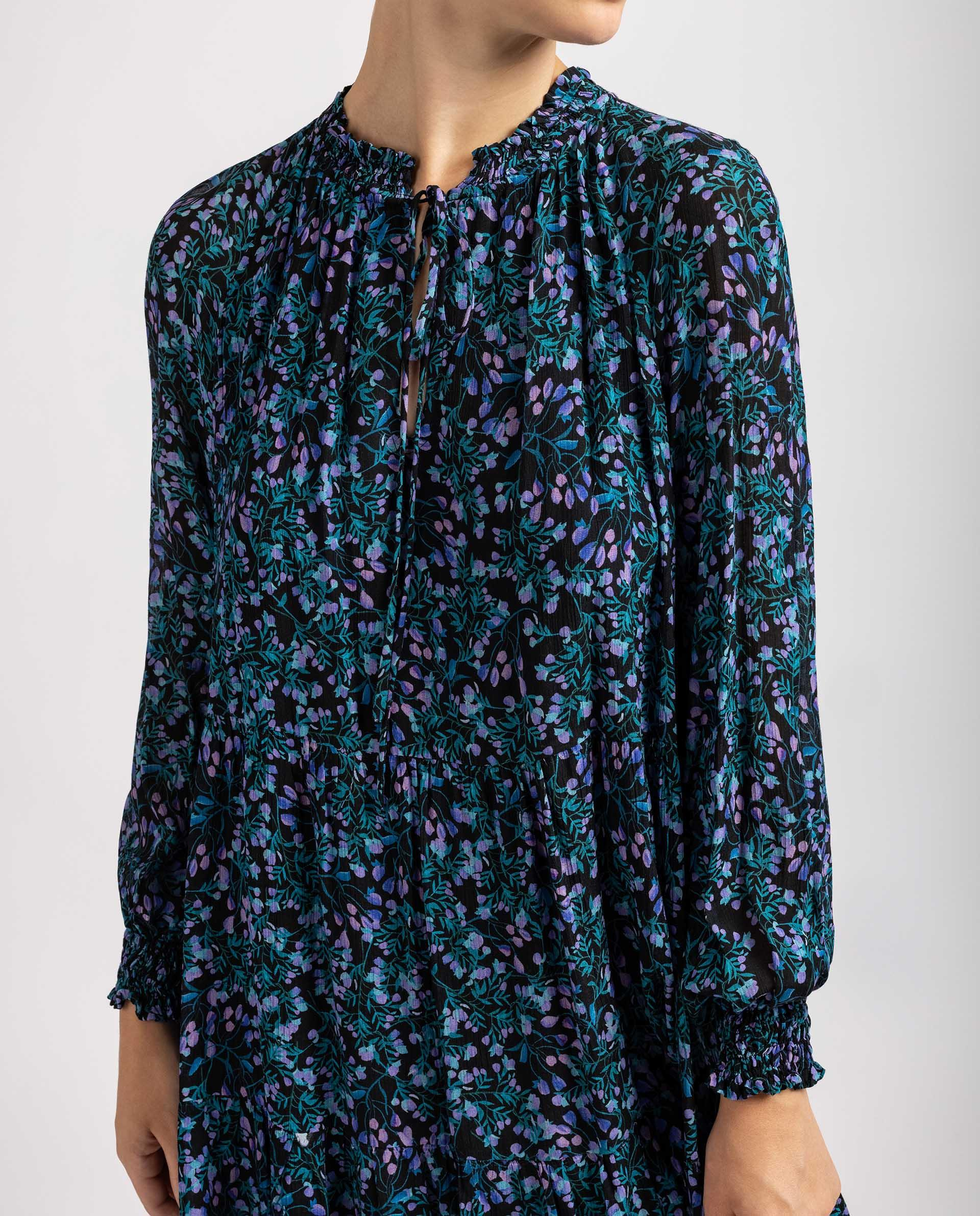 UNISA Kleid mit Volant und  langen ÄrmelnKleid mit Volant und  langen Ärmeln R_ABEDUL 5