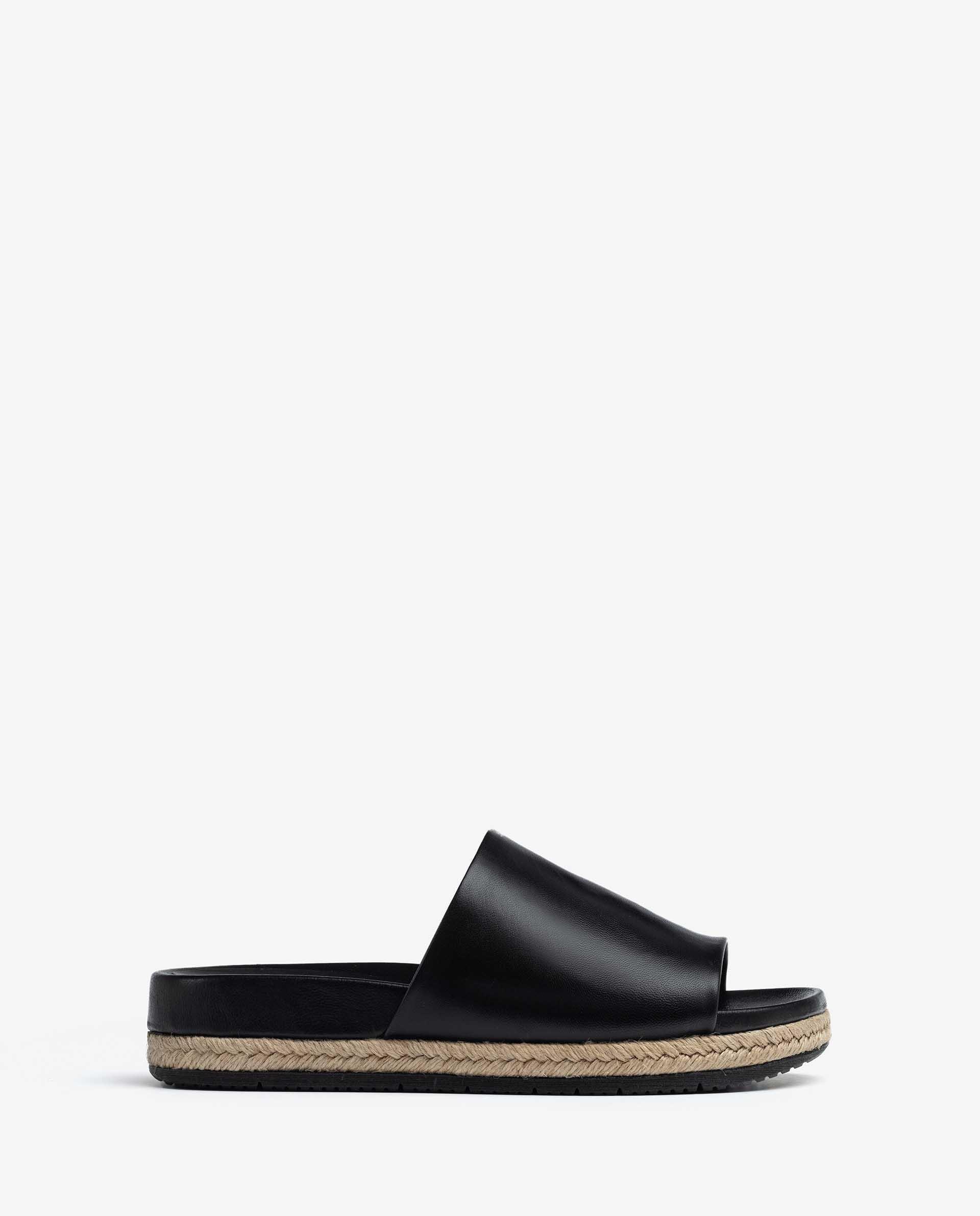 UNISA Sandale aus Leder und Jute CANDEL_NA 5