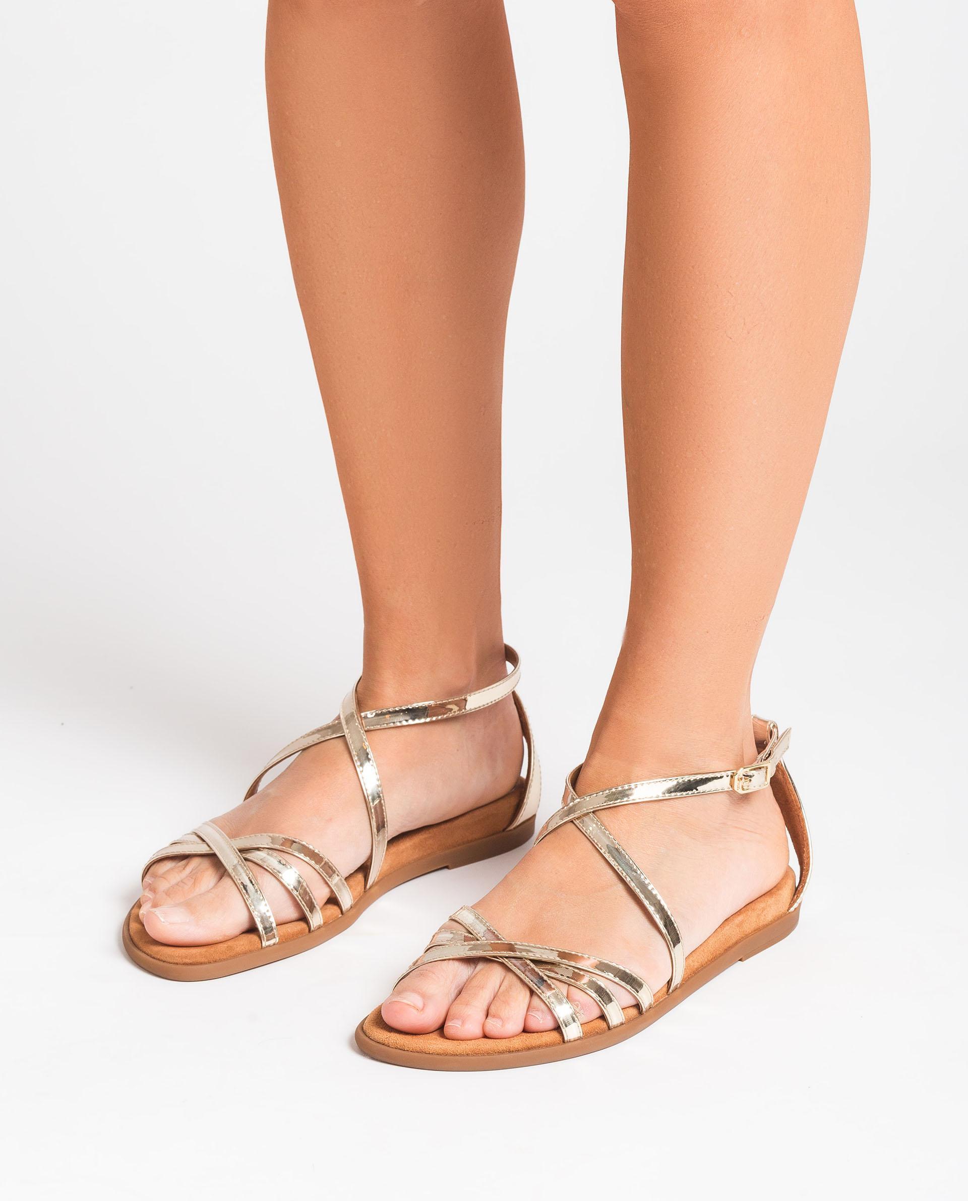 UNISA Flache Sandalen mit Spiegel-Effekt CARCER_SP 5