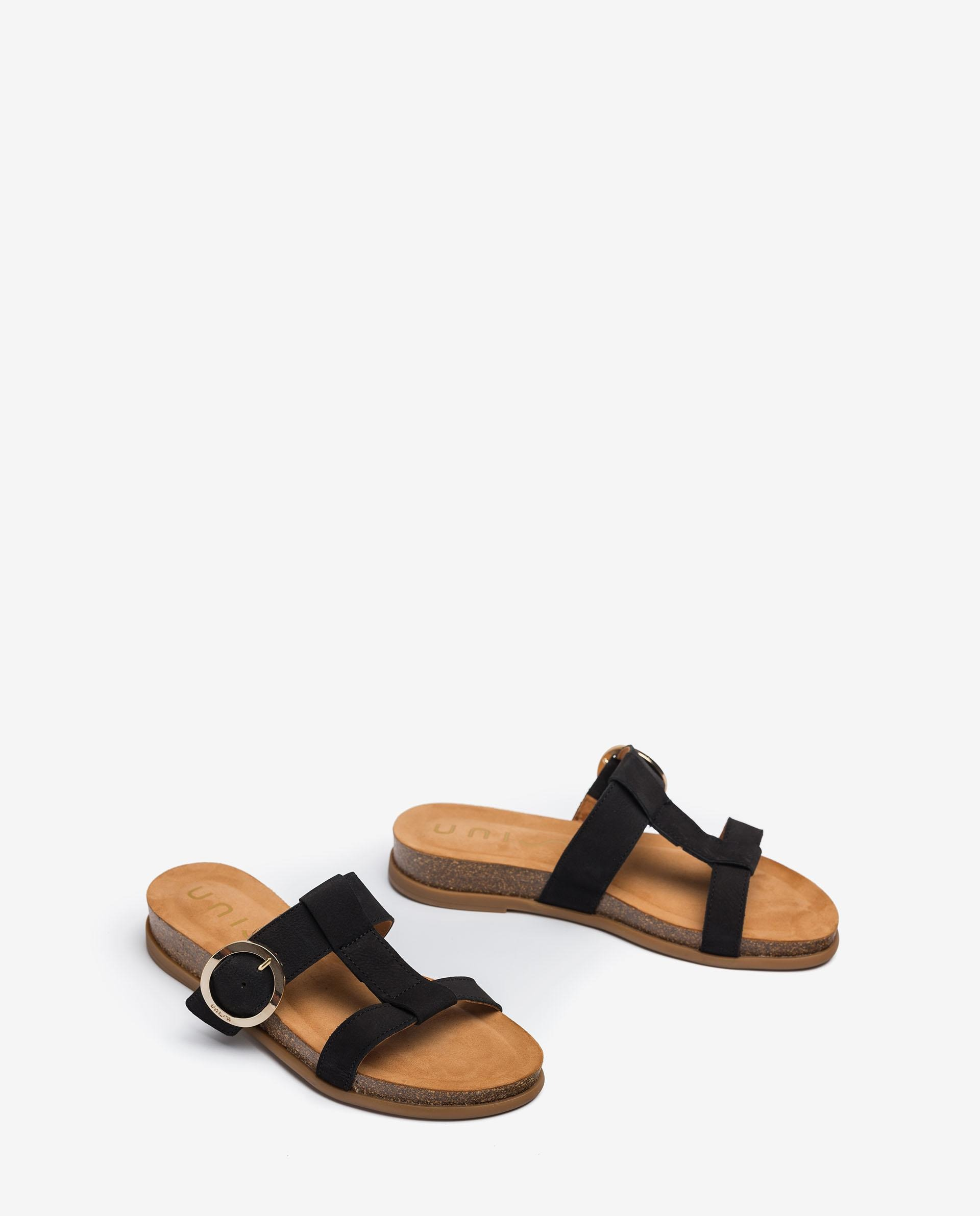 UNISA Sandalen mit Schnalle und Korkplateau CIVETA_BLU 5