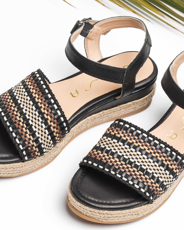 UNISA Kunsthandwerkliche Flecht-Sandaletten GIRO_CAN black 5