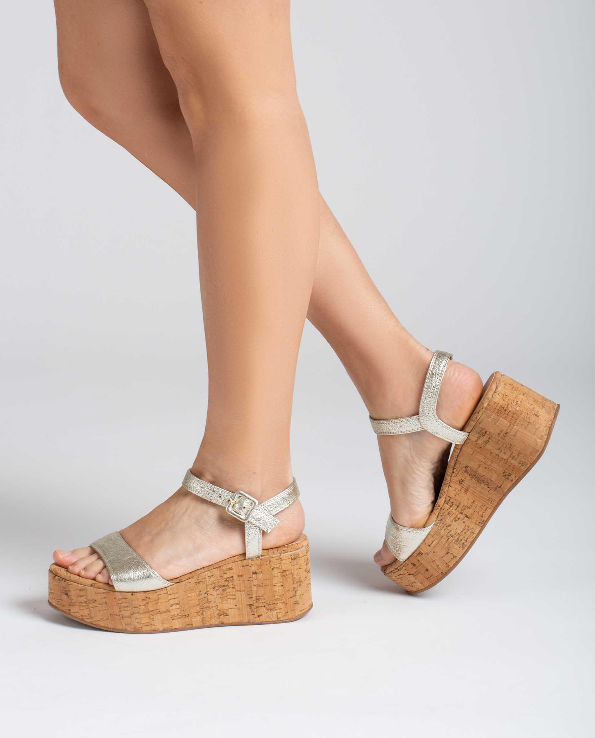 UNISA Sandalen aus glänzendem Leder LAIKICO_SE 5