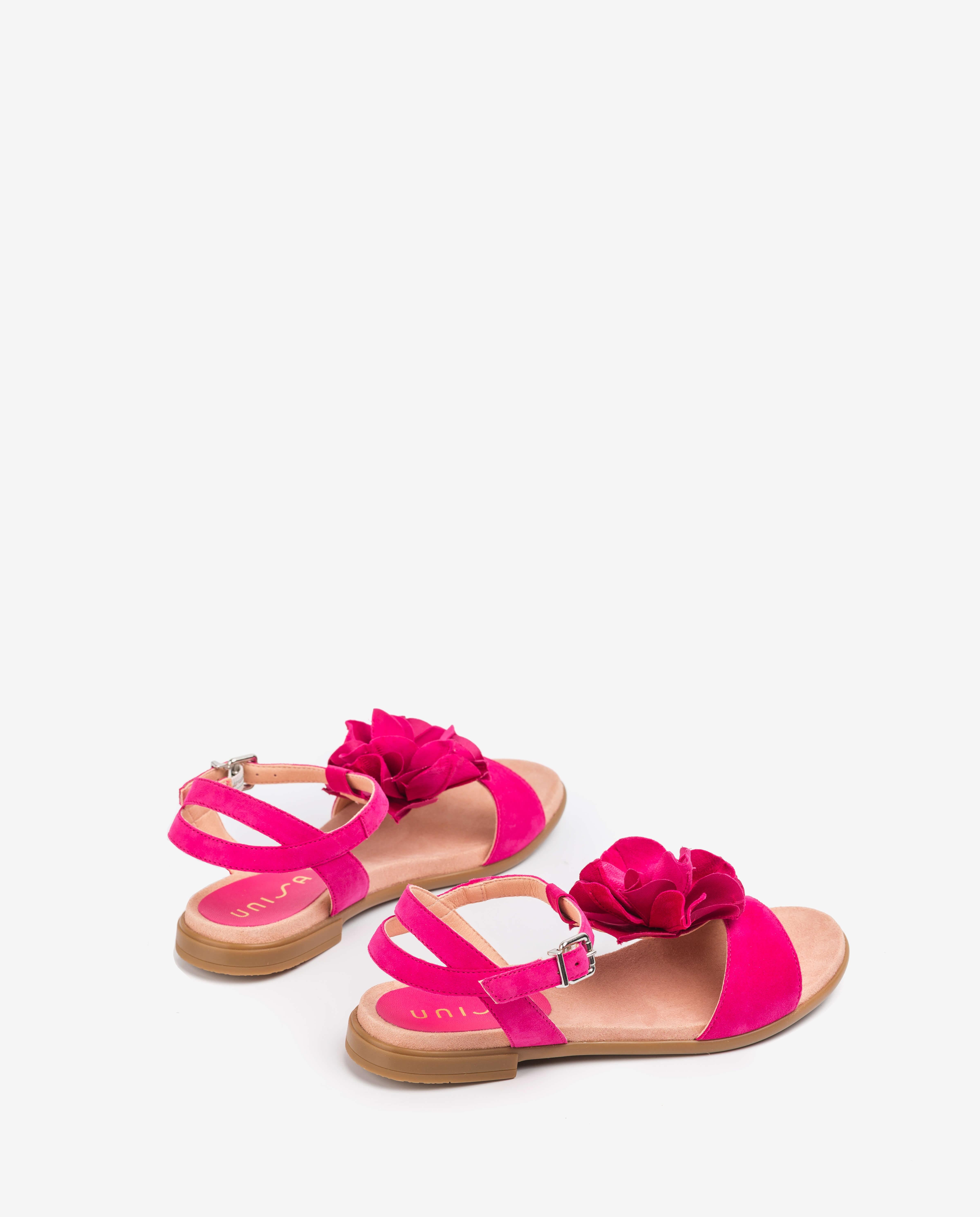 UNISA Fuchsiafarbene Mädchensandalen mit Blüte LUCK_C_KS fresia 5