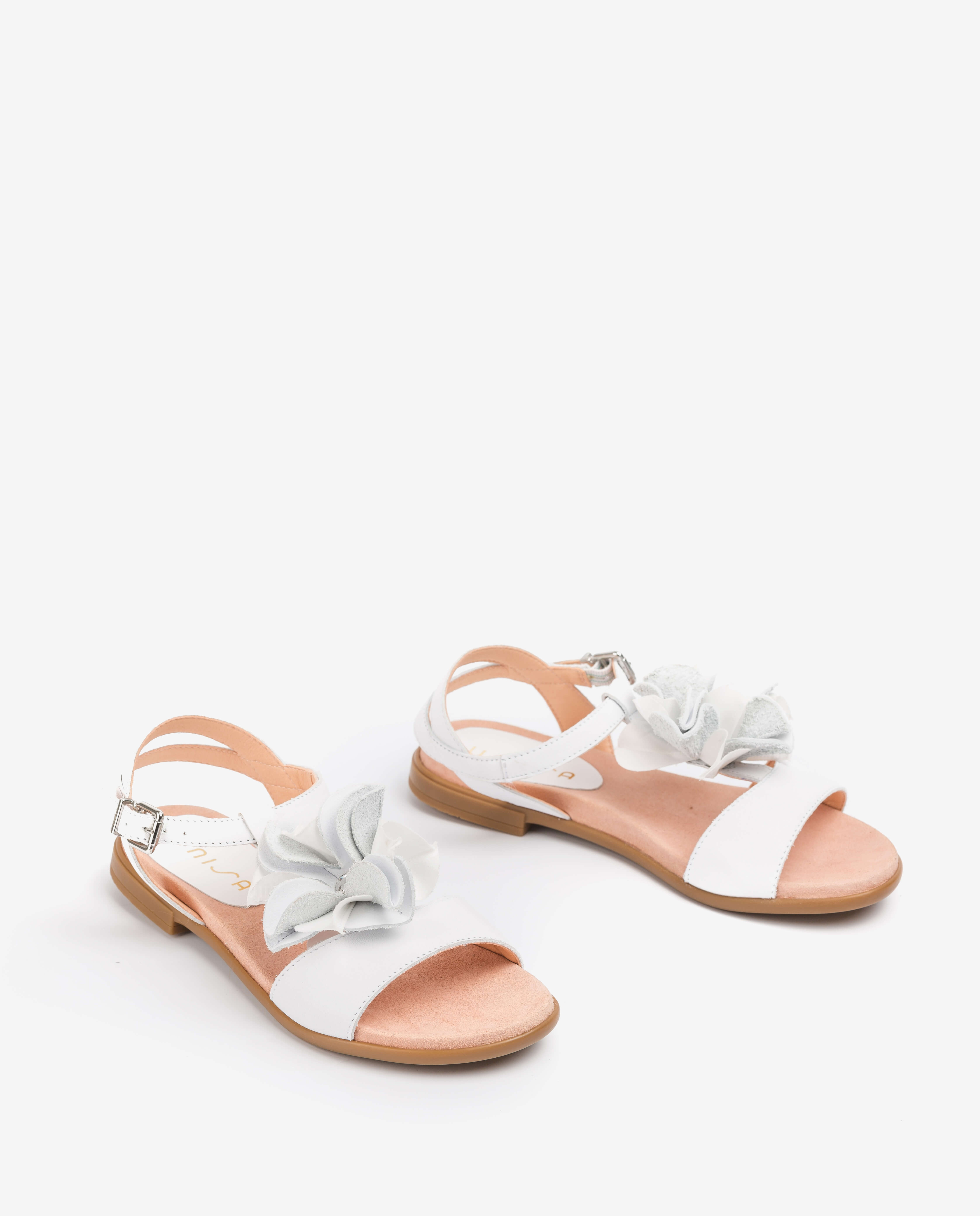 UNISA Weiße Mädchensandalen mit Blüte LUCK_C_NT white 5
