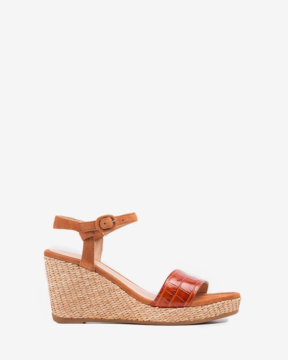 UNISA Sandaletten mit Kroko-Optik LUPA_CRW_KS bisqu/cina 5