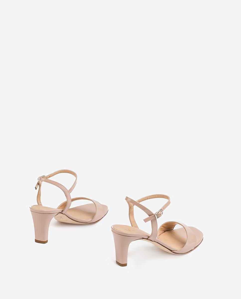 UNISA Nudefarbene Sandaletten mit mittelhohem Absatz MECHI_PA dusty 5