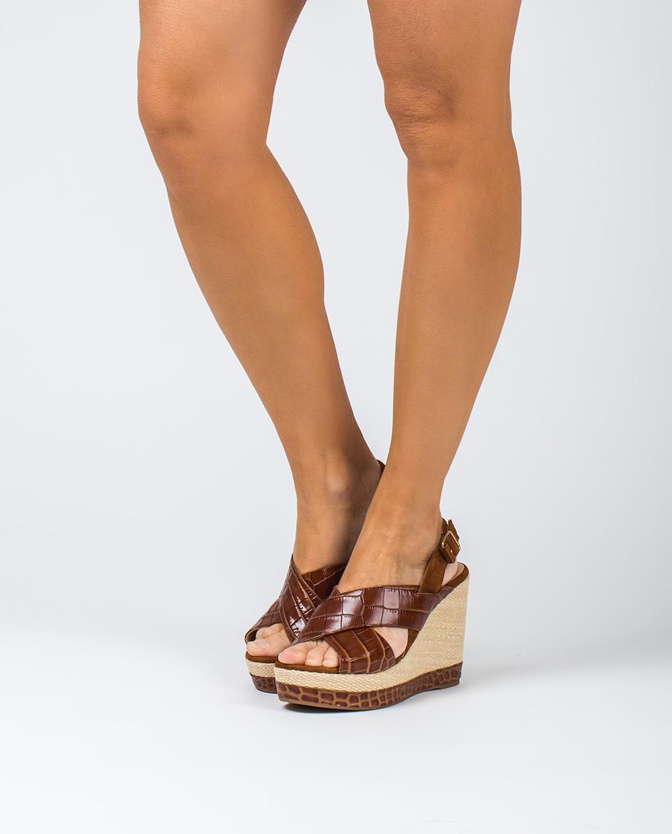 UNISA Sandalen mit Kroko-Optik MIGUEL_CRW_KS saddle/cui 5