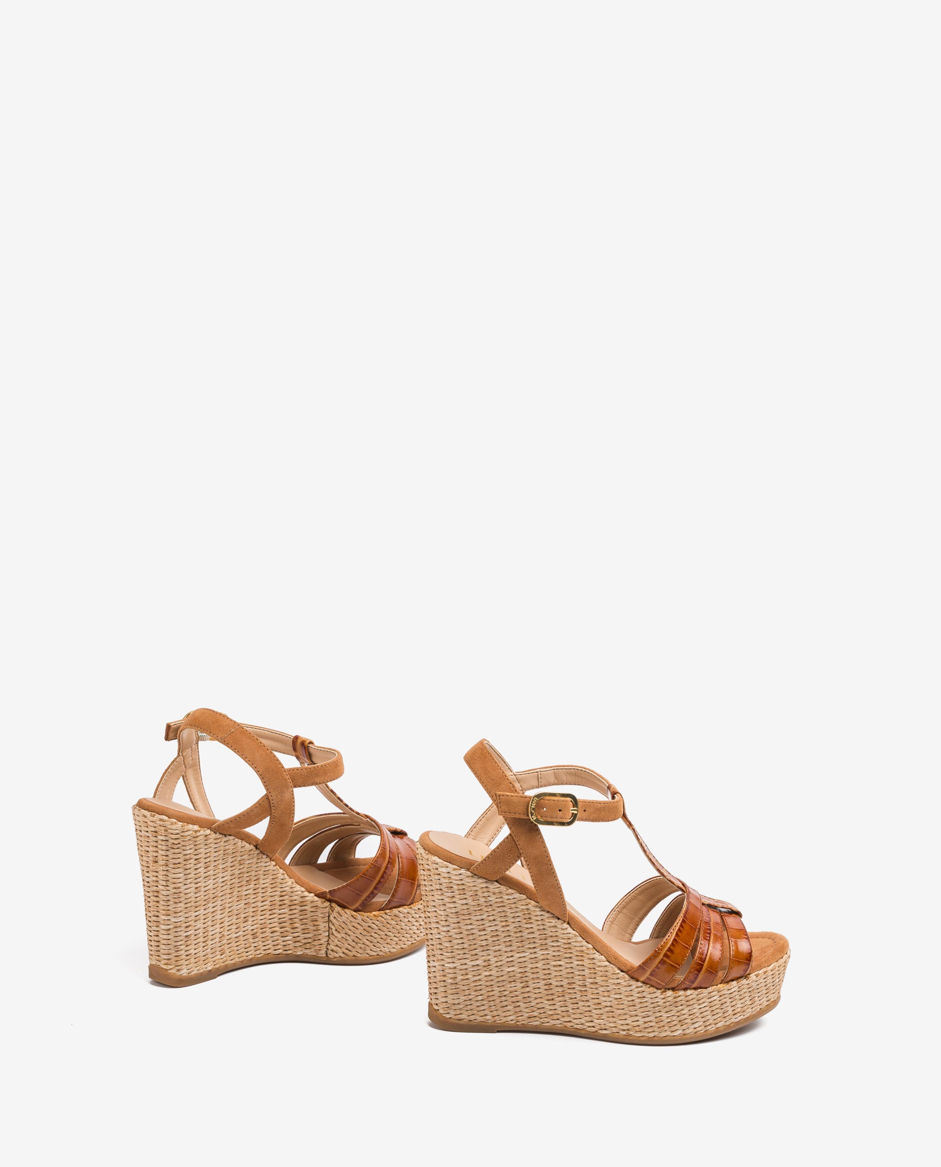 UNISA Sandaletten mit kontrastierenden Bändern MOLINO_CRW_KS bisqu/cina 5