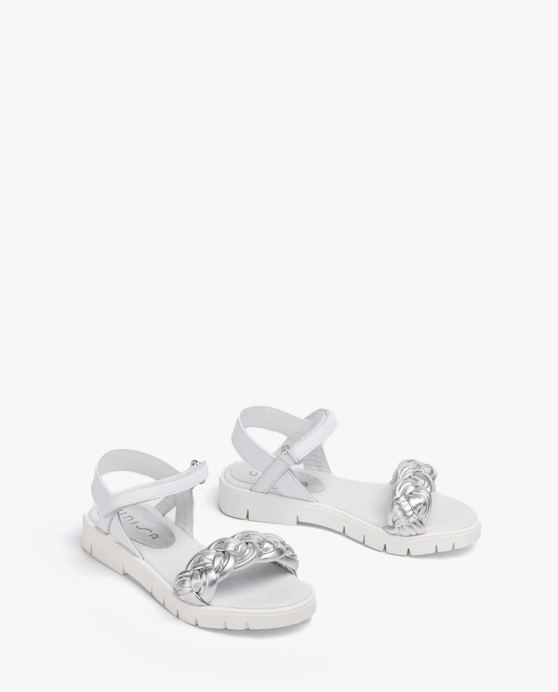 UNISA Little girl metal leather braided sandals NANSA_LMT_VA 5
