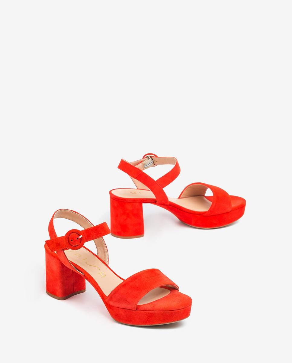 UNISA Retro-Sandaletten aus Wildleder NENES_20_KS corallo 5