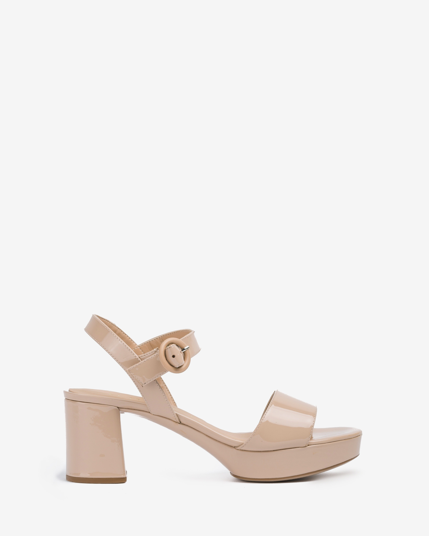 UNISA Lackleder-Sandaletten mit Plateausohle NENES_20_PA nude 5