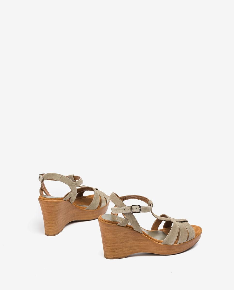 UNISA T-Strap-Sandalen aus Wildleder RAMOS_KS lauro 5