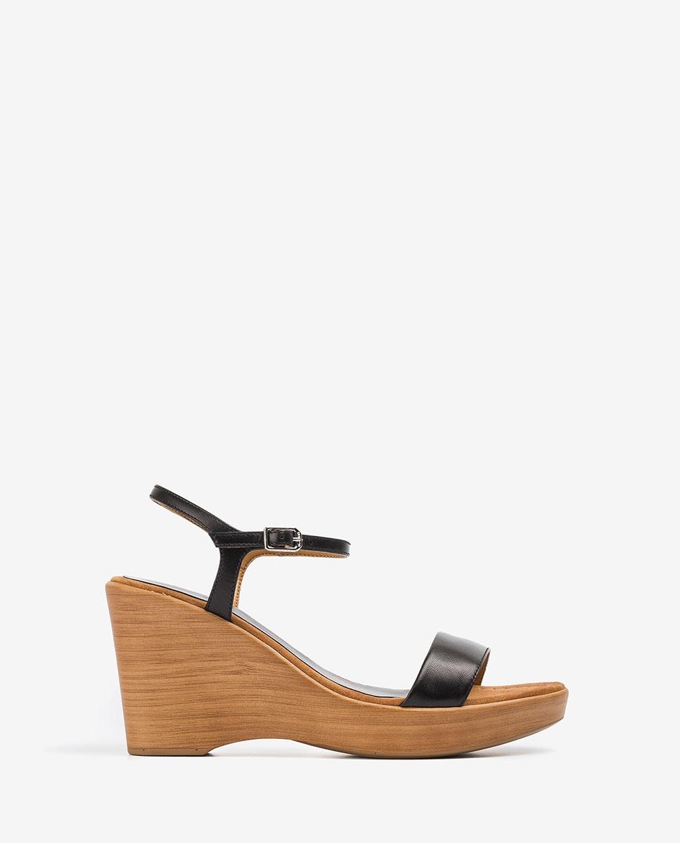 UNISA Block-Sandalen aus Leder RITA_20_NA black 5