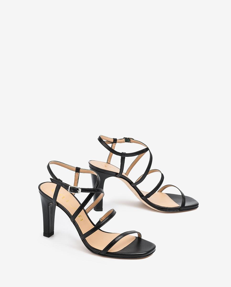 UNISA Sandaletten mit Absatz und vielen Bändern SIMO_20_NA black 5