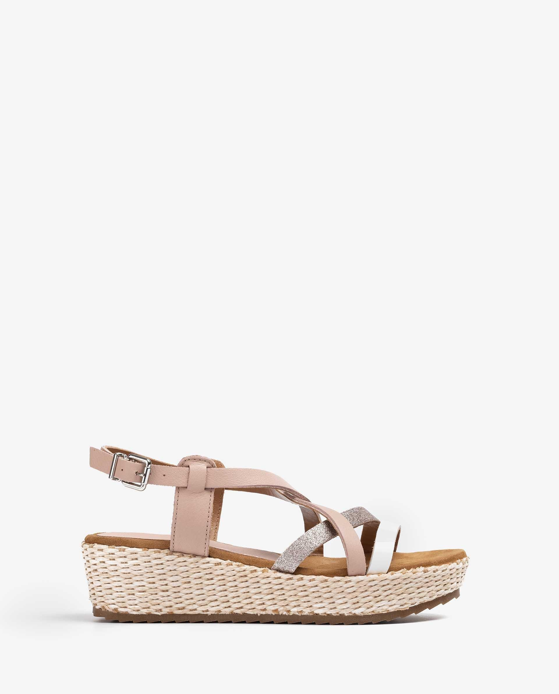 UNISA Little girl leather sandals with multi straps TELLY_VA_SD 5