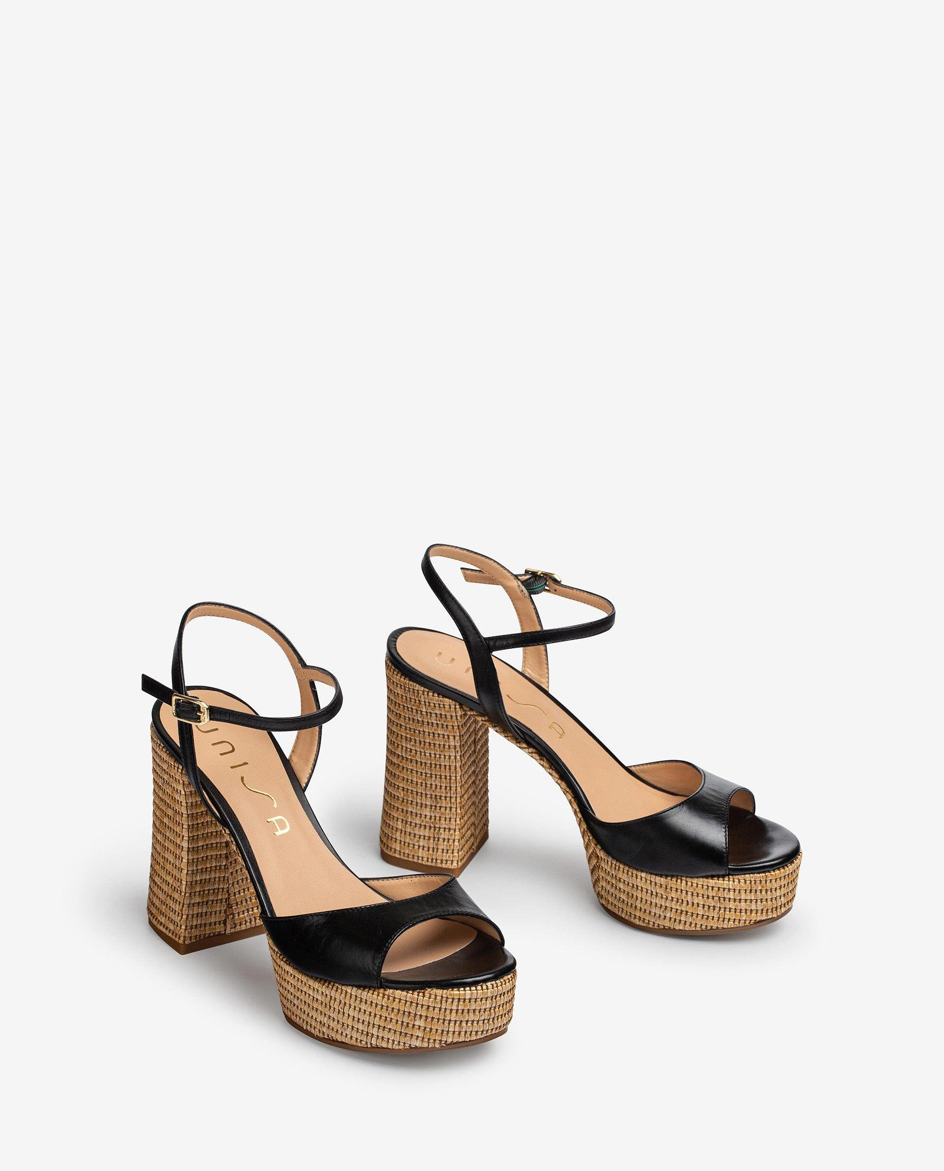 UNISA Sandalen im Stil der 70er mit Plateau VEGARA_21_NA_RR 5