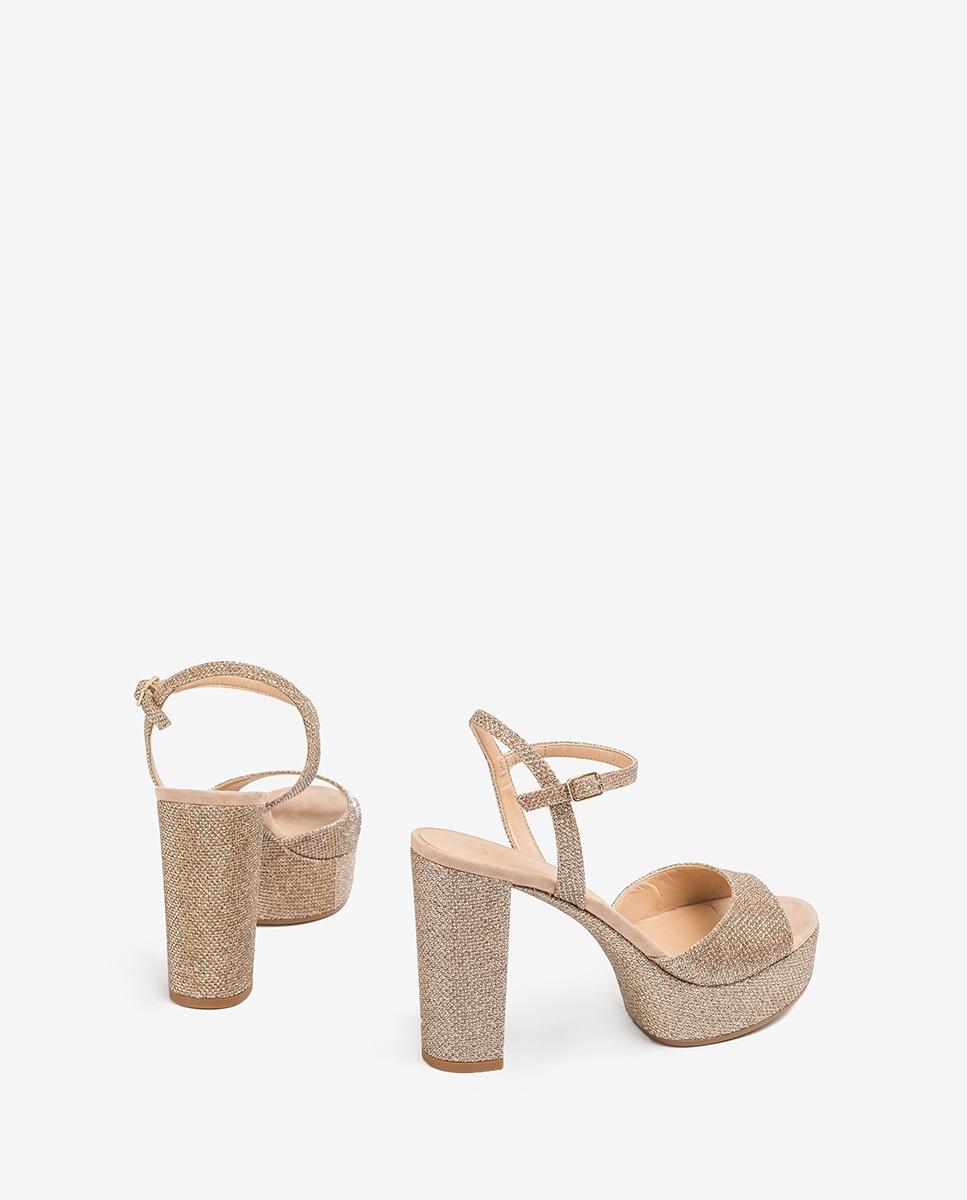 UNISA Kontrastreiche Sandaletten mit Absatz und Plateau VEGARA_EV_KS mumm 5