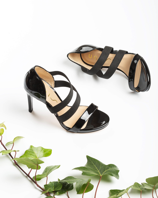 UNISA Schwarze Heel-Sandaletten mit Elastikeinsätzen YERNO_PA black 5