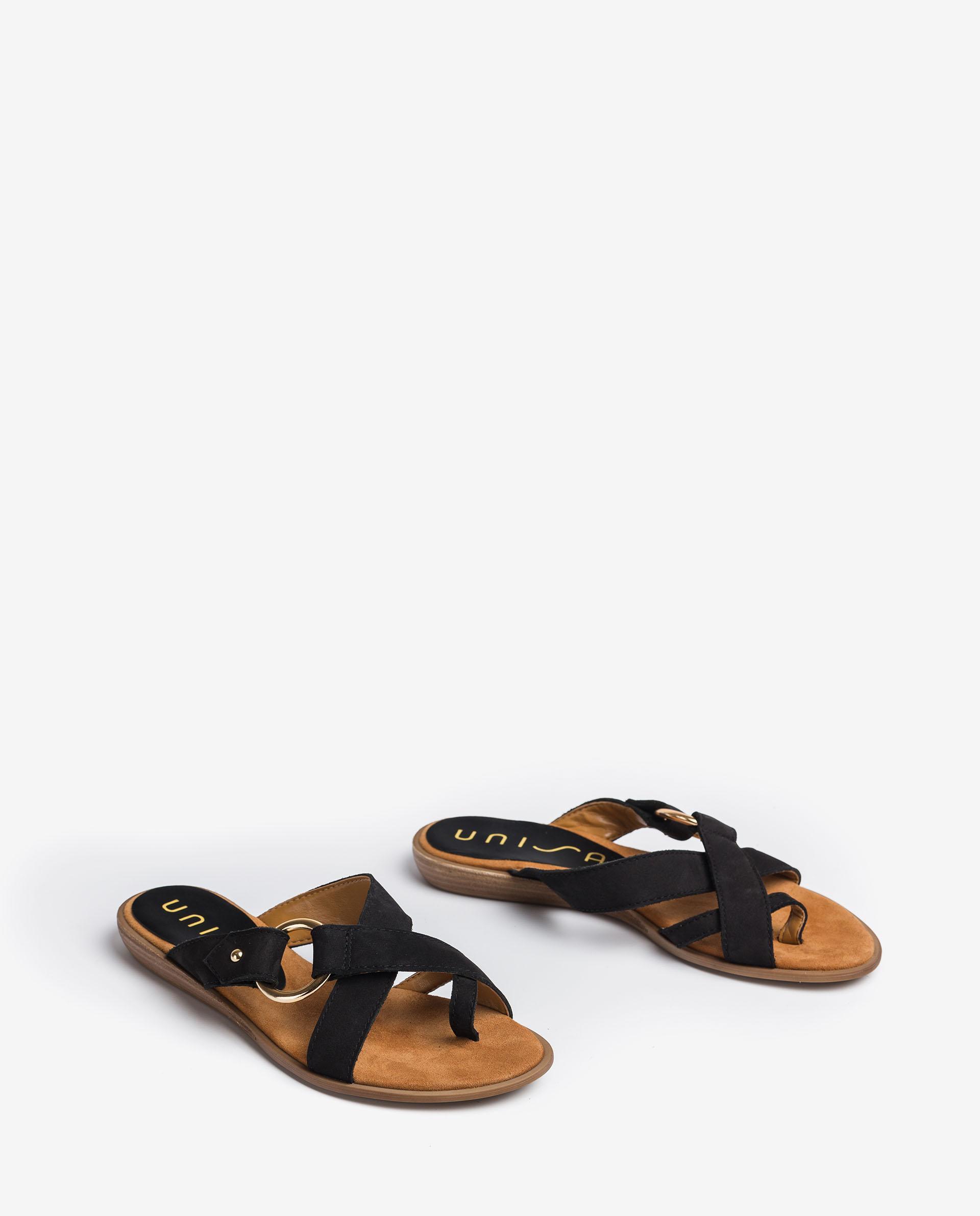 UNISA Sandalen mit Metallic-Verzierung ADRIEL_BLU 5