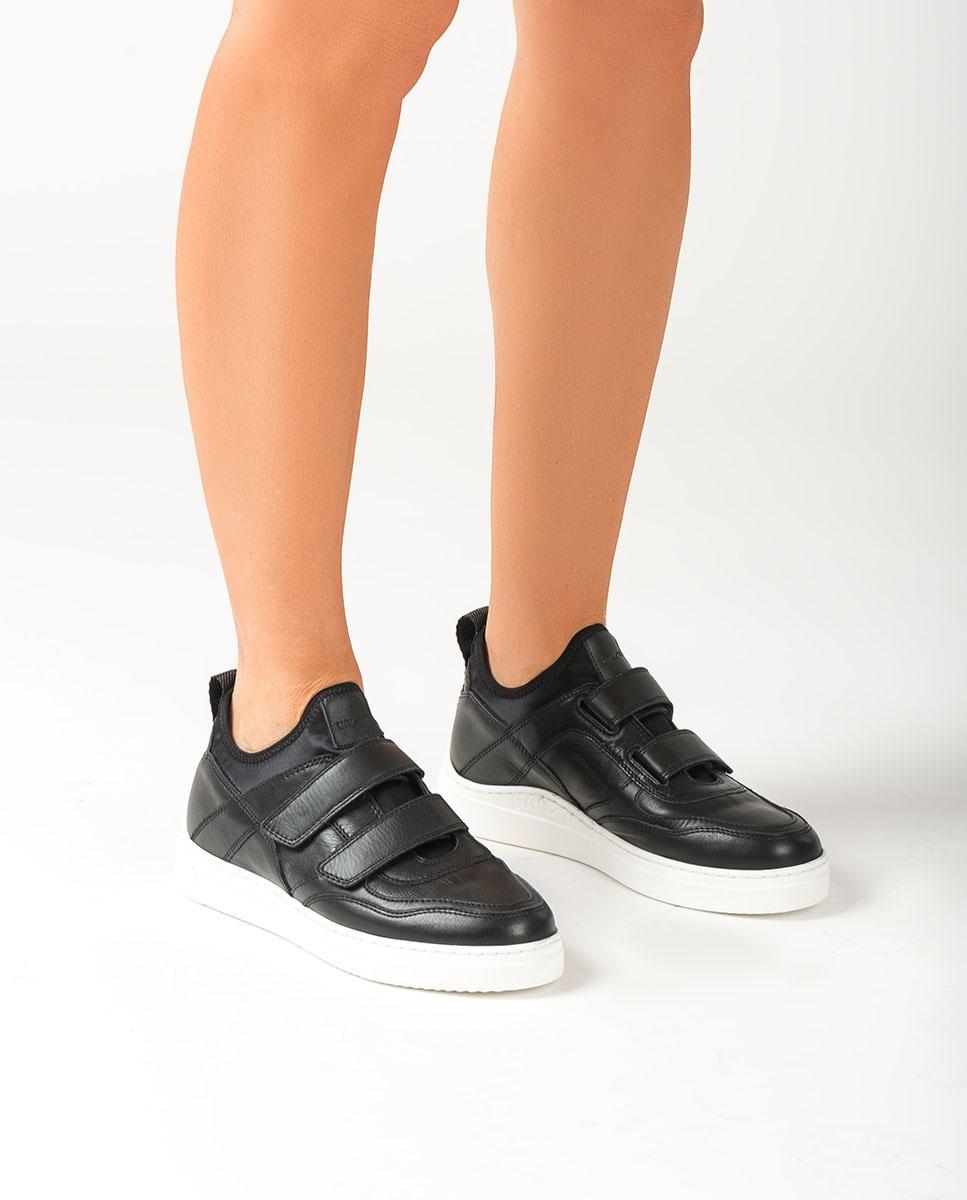 UNISA Sneaker aus schwarzem Lackleder in Kroko-Optik FEDISA_CRE_NF black 5