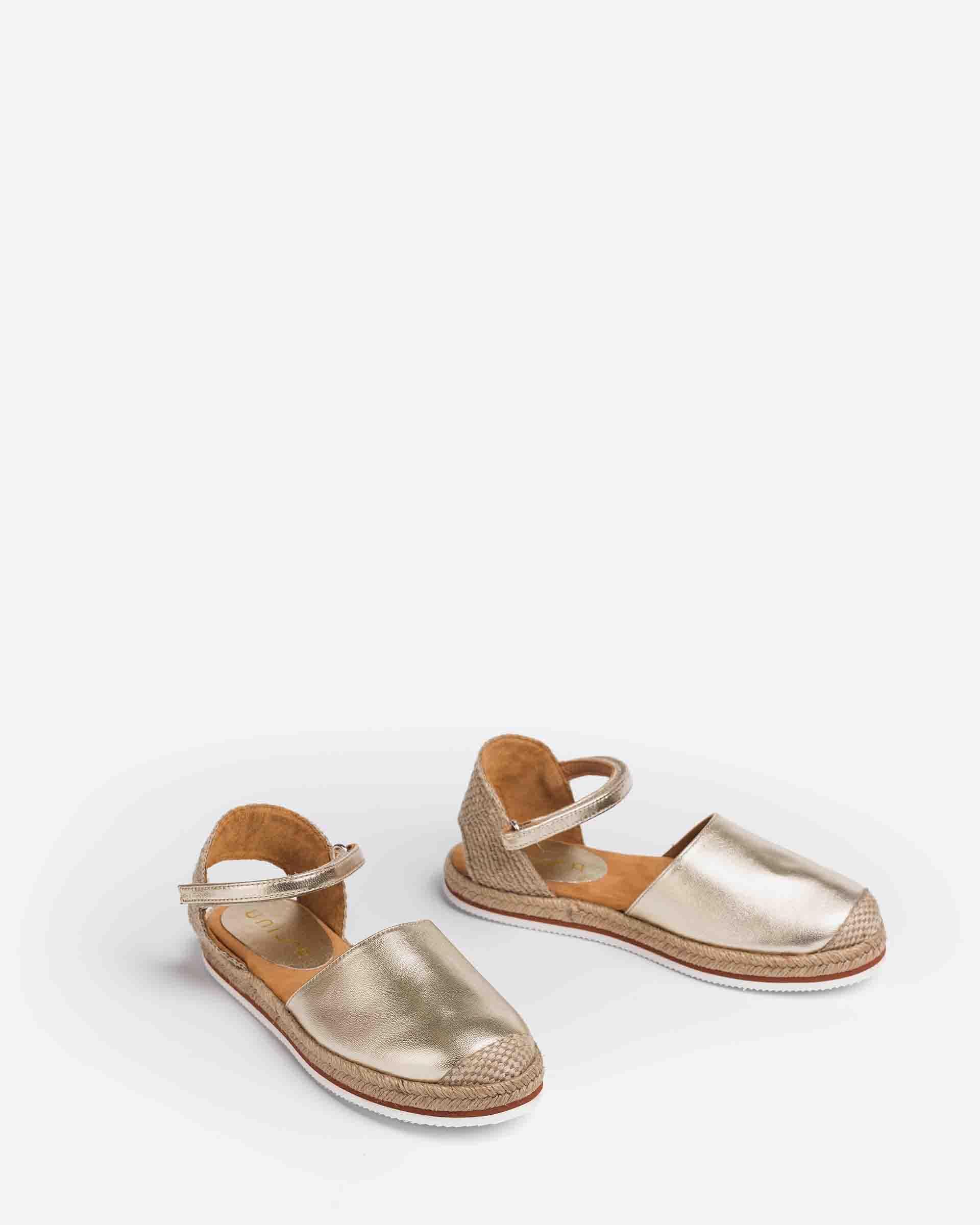 UNISA Espadrilles aus Metallic-Leder für Mädchen YADIRA_21_LMT 5