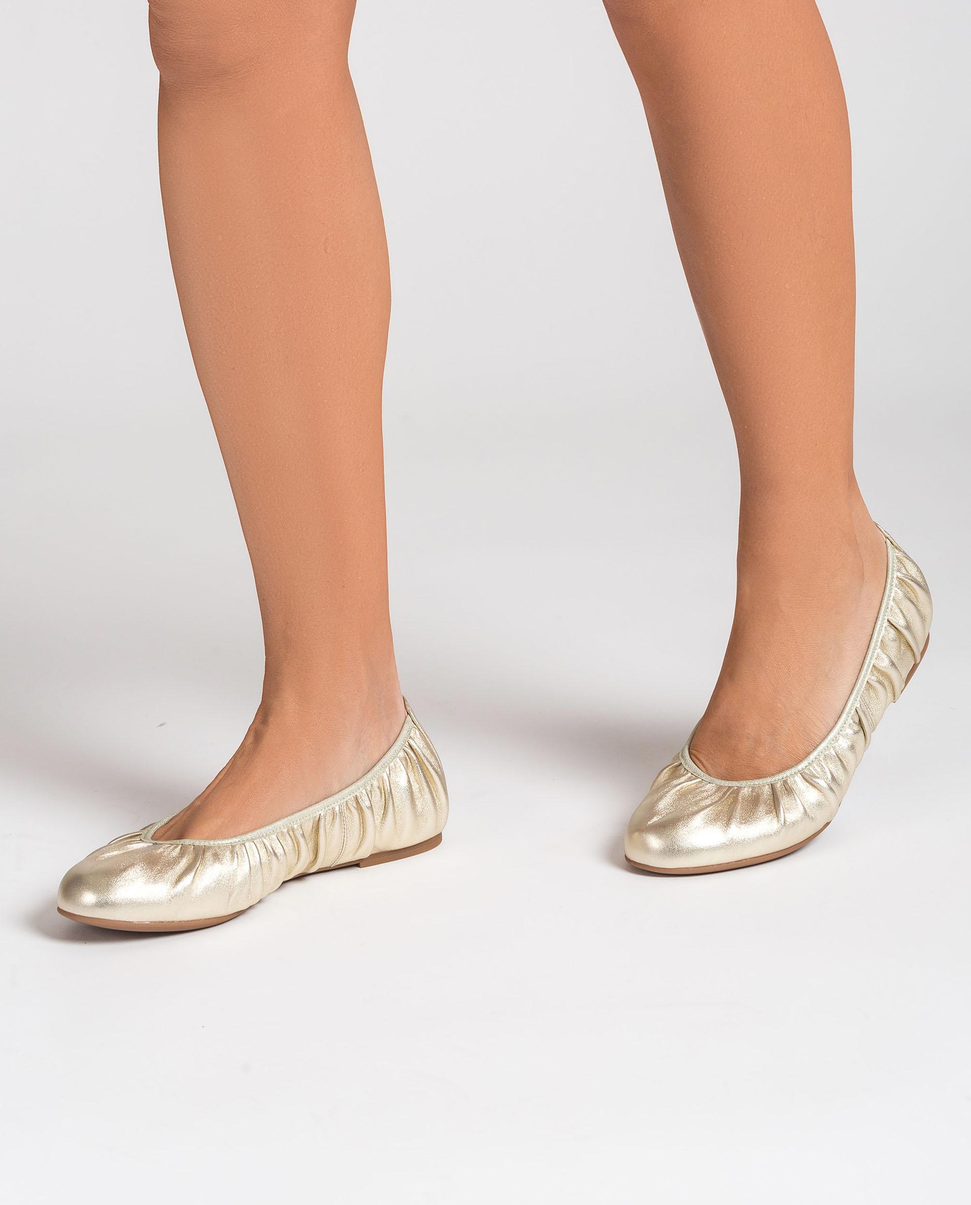 UNISA Ballerinas aus glänzendem Stoff ABELLA_LMT 5