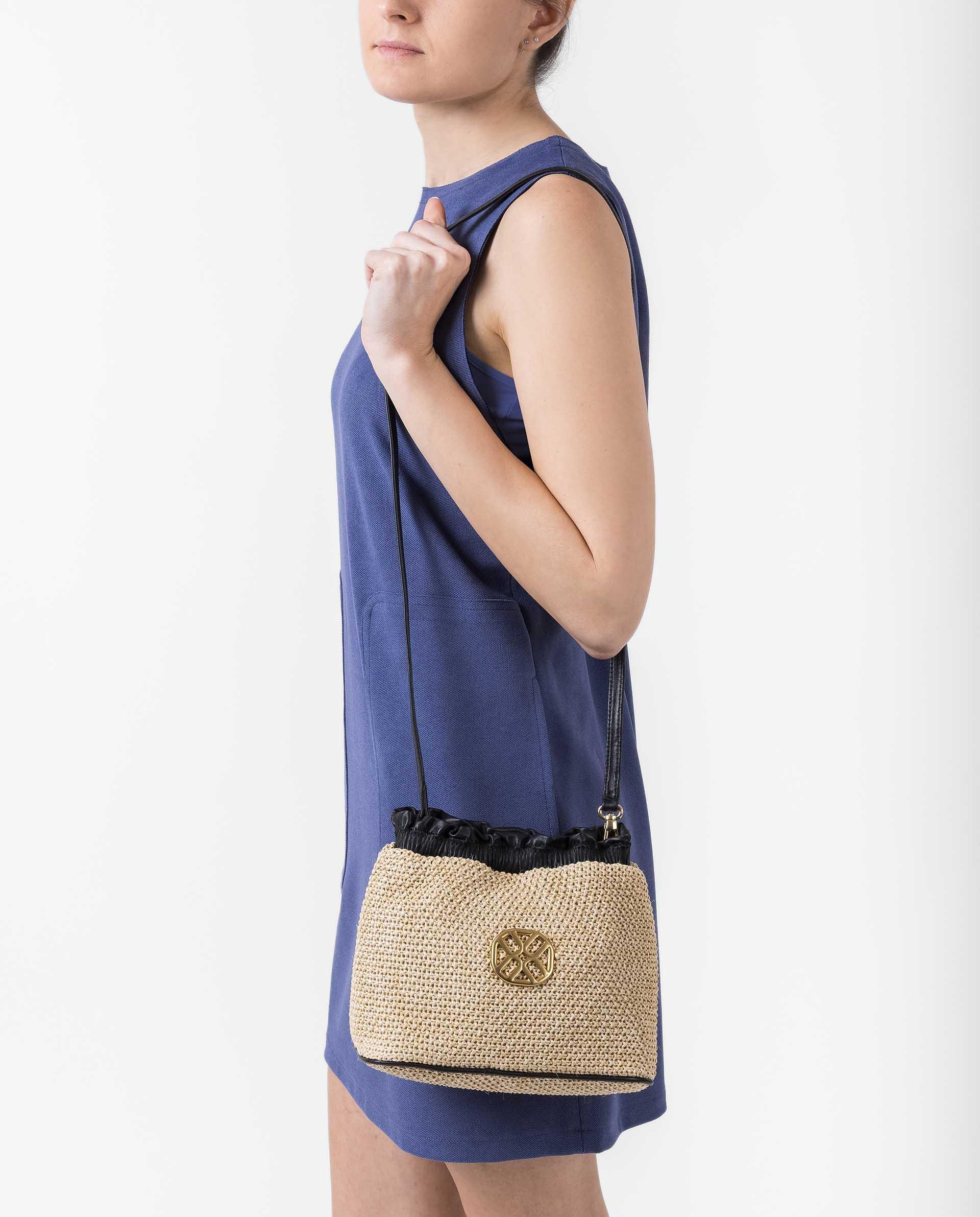 UNISA Bucket Bag mit Monogramm ZCALISTA_RC_NT 5