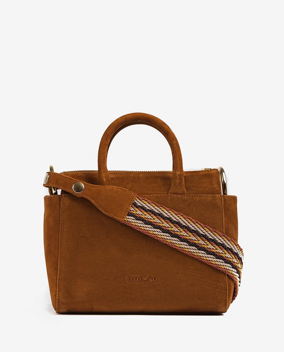 UNISA Wildledertasche mit Henkel ZGESTA_KS cuir 5