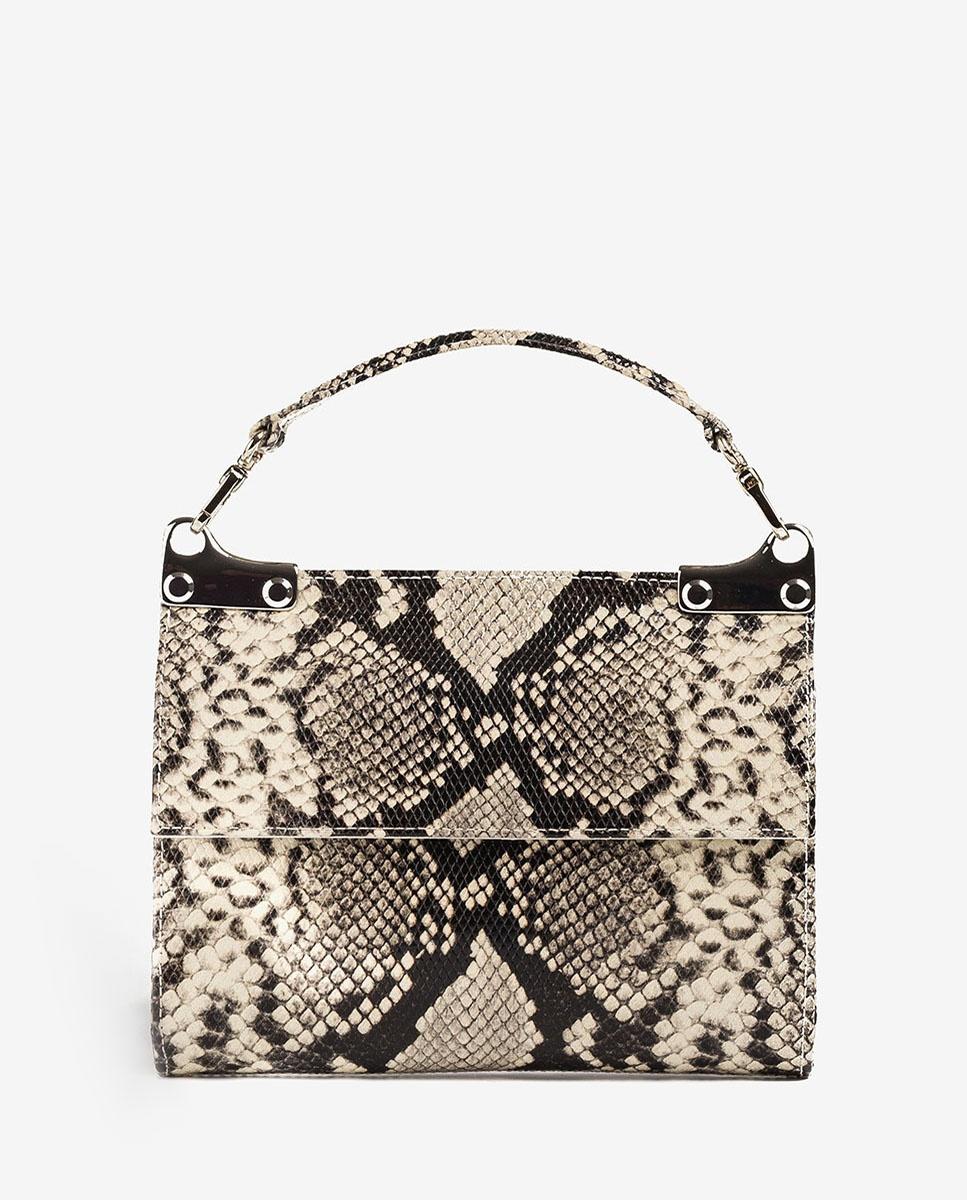 UNISA Handtasche mit Snake-Print ZAMAL_VIP nacar 5