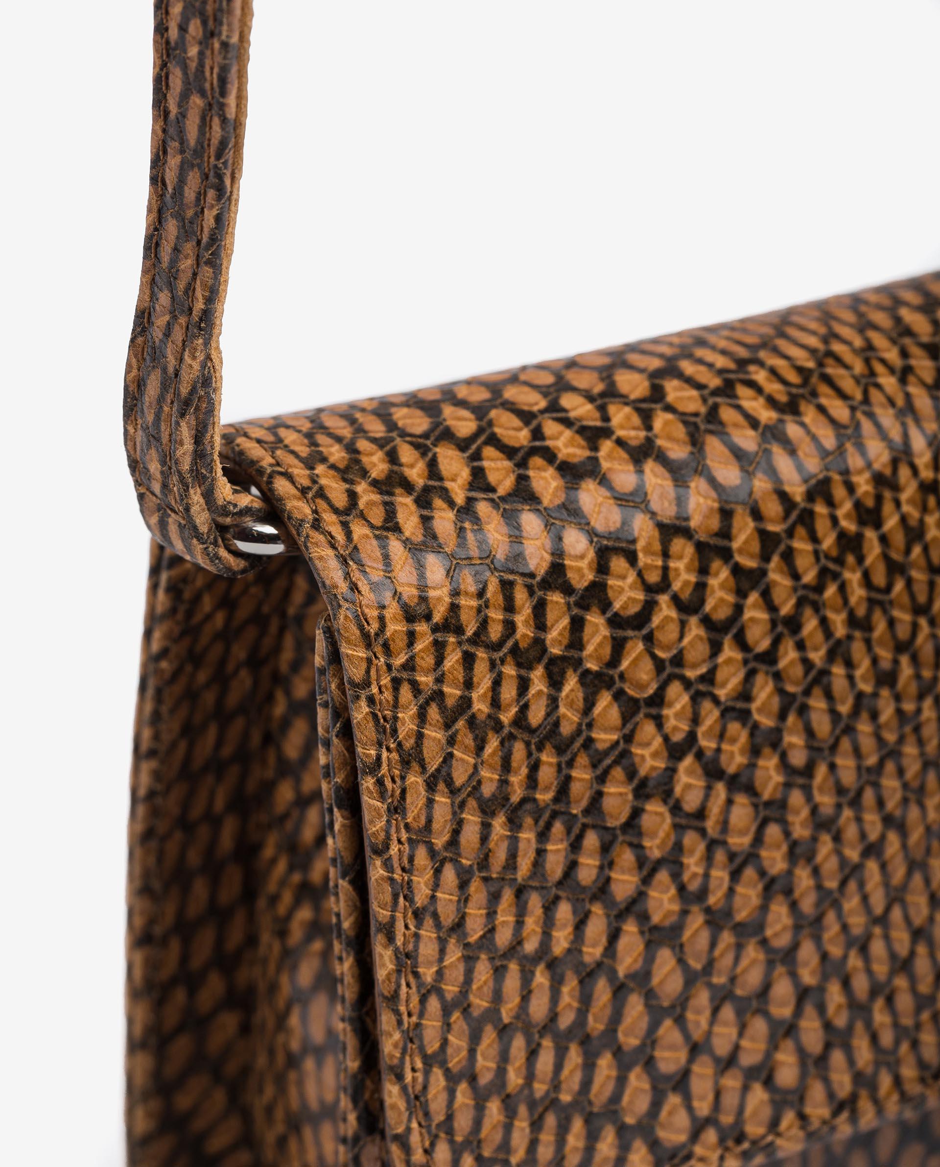 UNISA Handtasche aus Leder mit Snake-Print ZBELA_MA 5