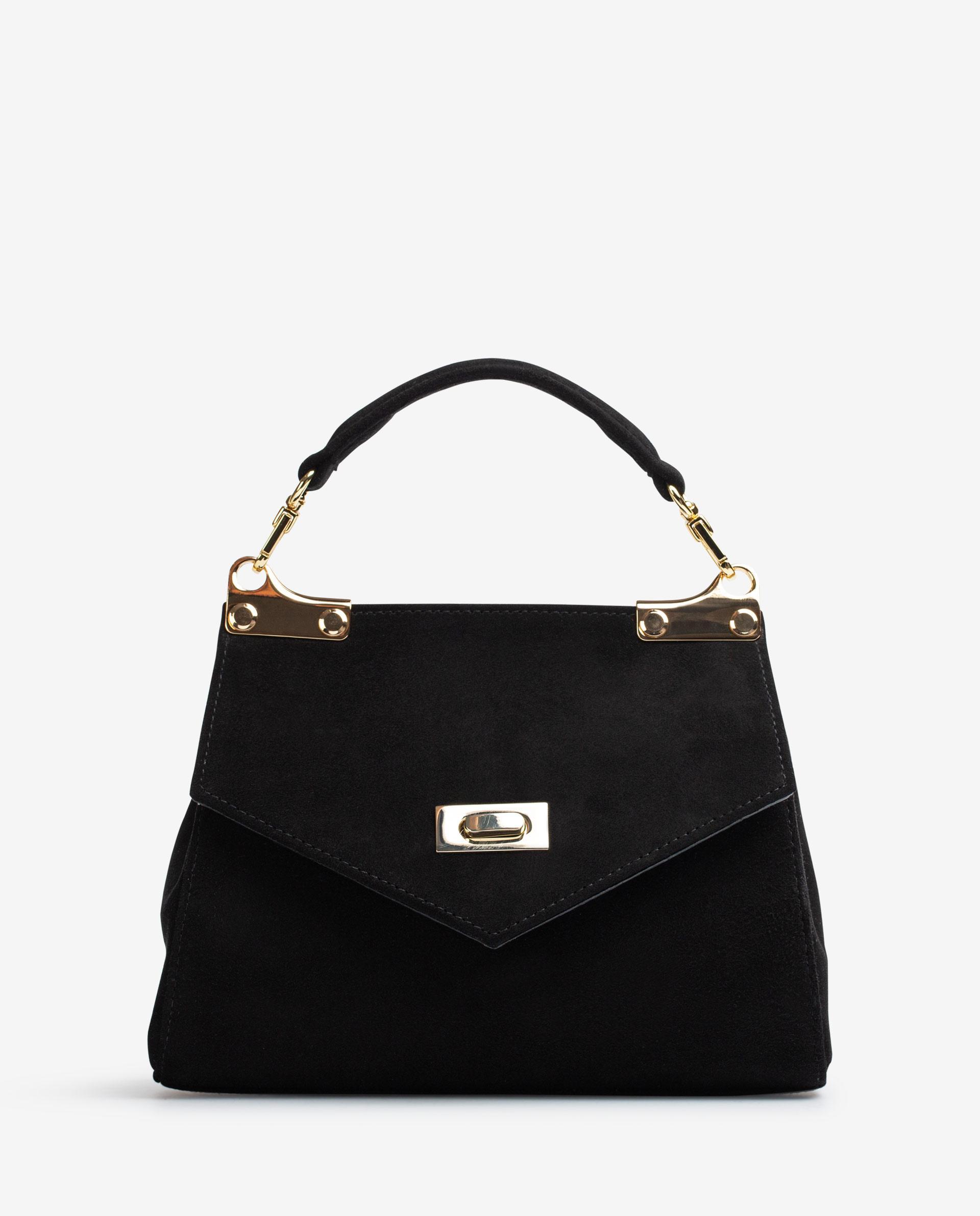 UNISA Handtasche im Kofferstil aus Wildleder ZBENICE_KS 5
