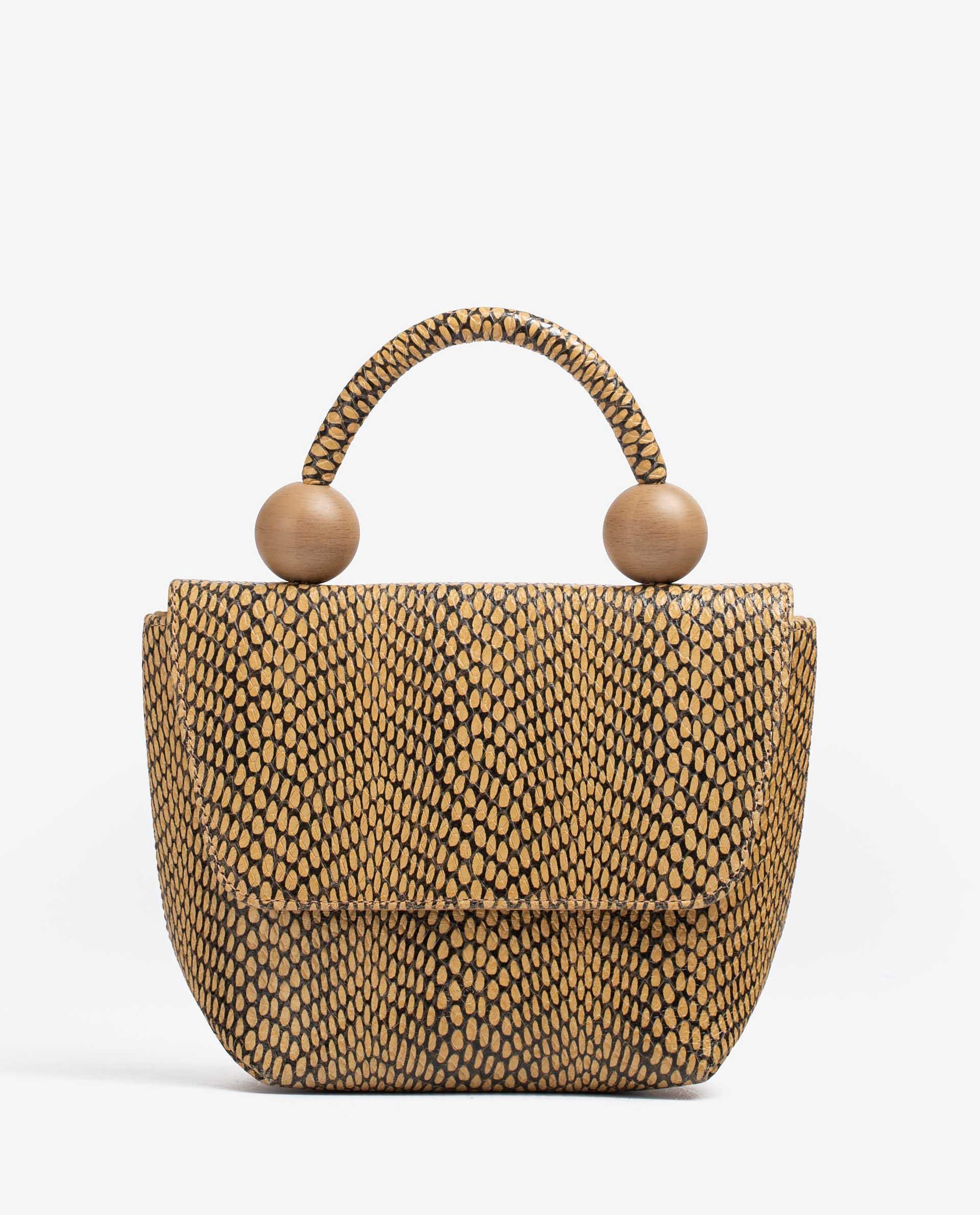 UNISA Handtasche aus Leder mit Snake-Print ZGILES_MA 5