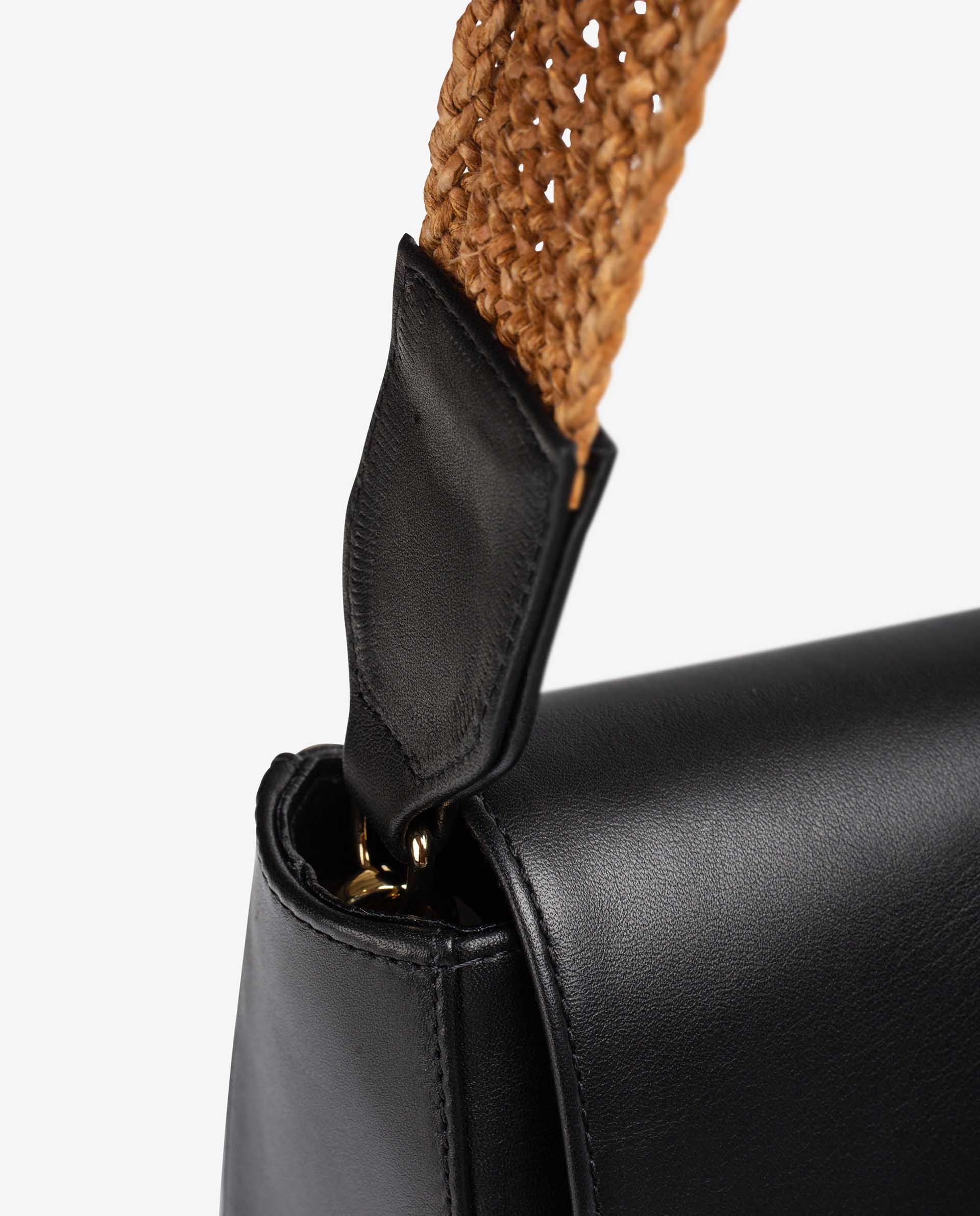 UNISA Mittelgroße Tasche mit geflochtenem Umhängeriemen ZLLANA_NT 5