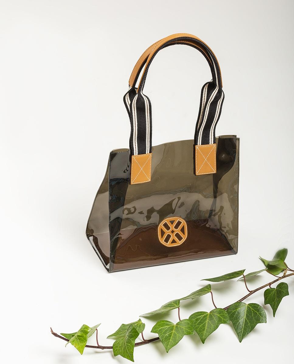 UNISA Vinyl-Handtasche mit Monogramm ZOIL_CAN_VIN humo 5
