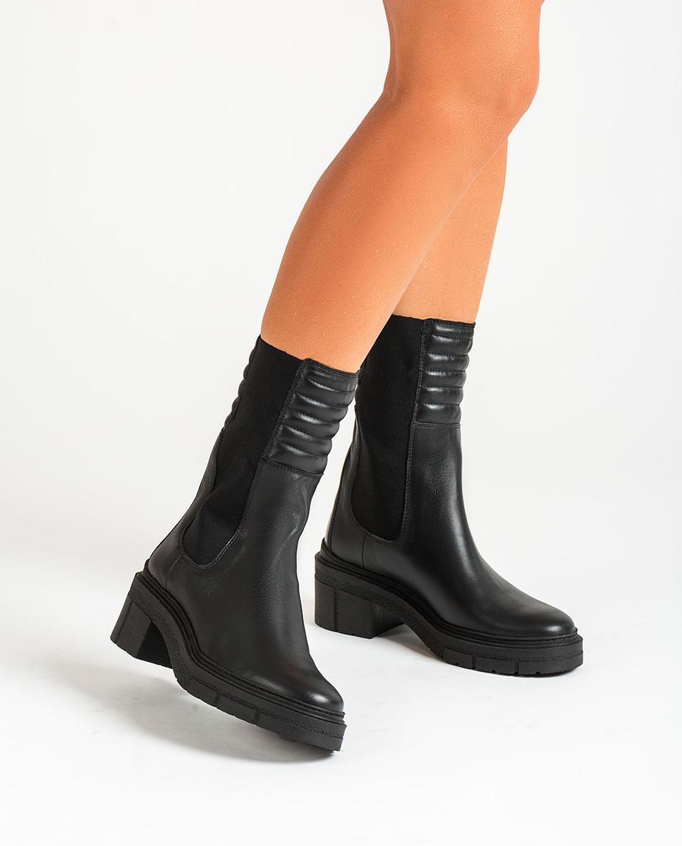 UNISA Schwarze Stiefel mit gepolstertem Schaft JINA_NF black 5