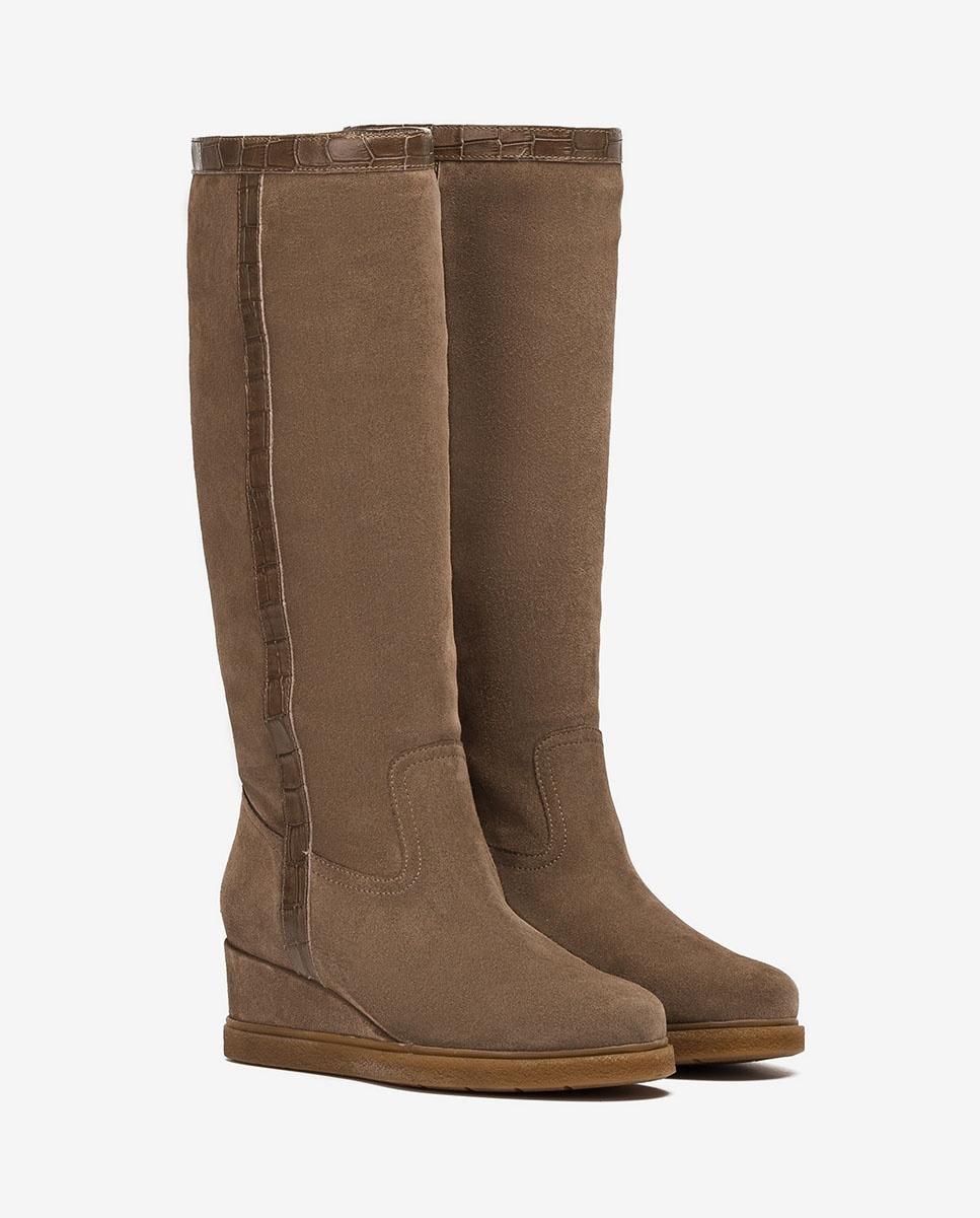 UNISA Gaucho-Stiefel mit Keilsohle JISCO_BS_MAL taupe 5