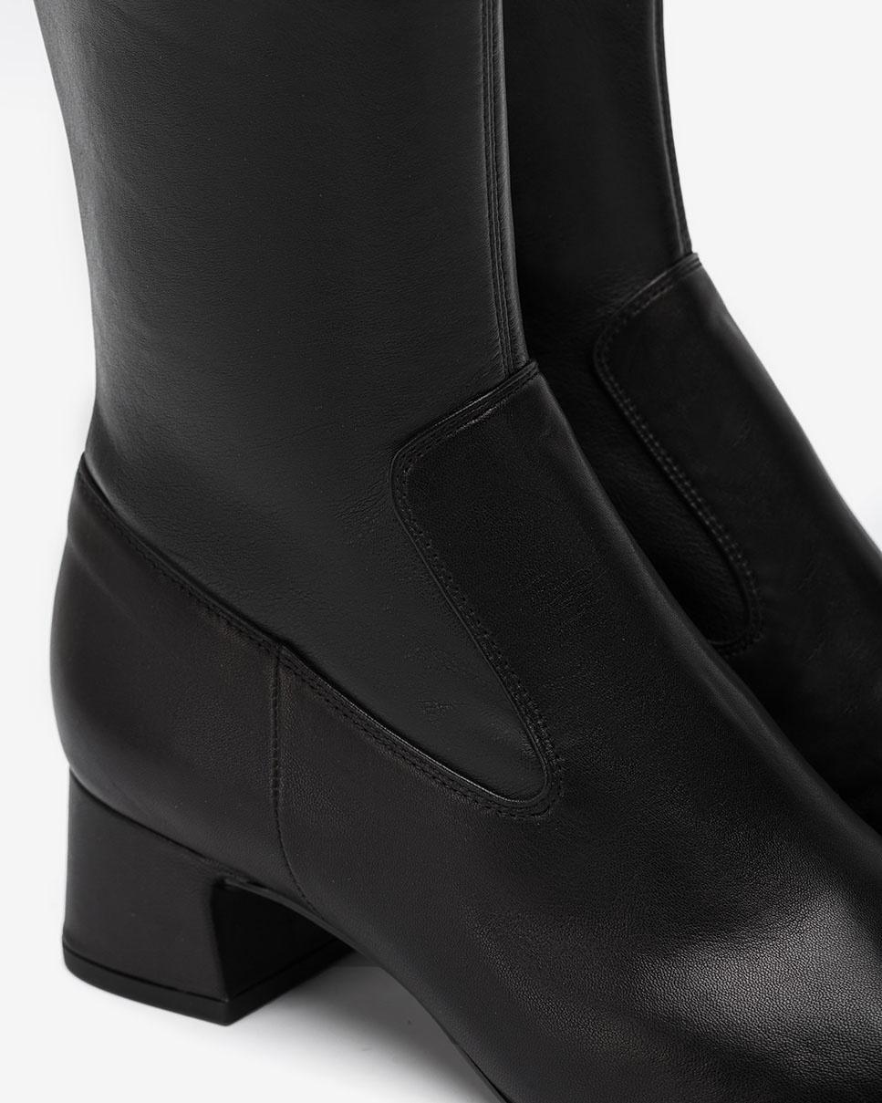 UNISA Schwarze elastische Stiefel LONJA_VU_STN black 5
